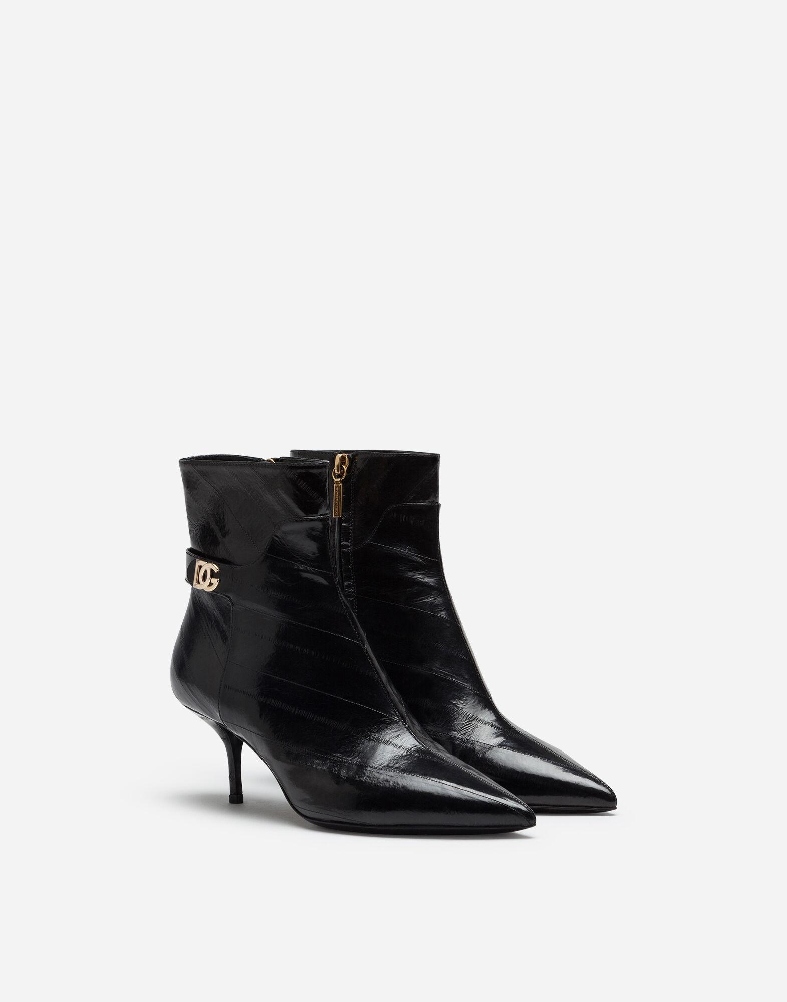 Ankle boots in eel with DG logo 1
