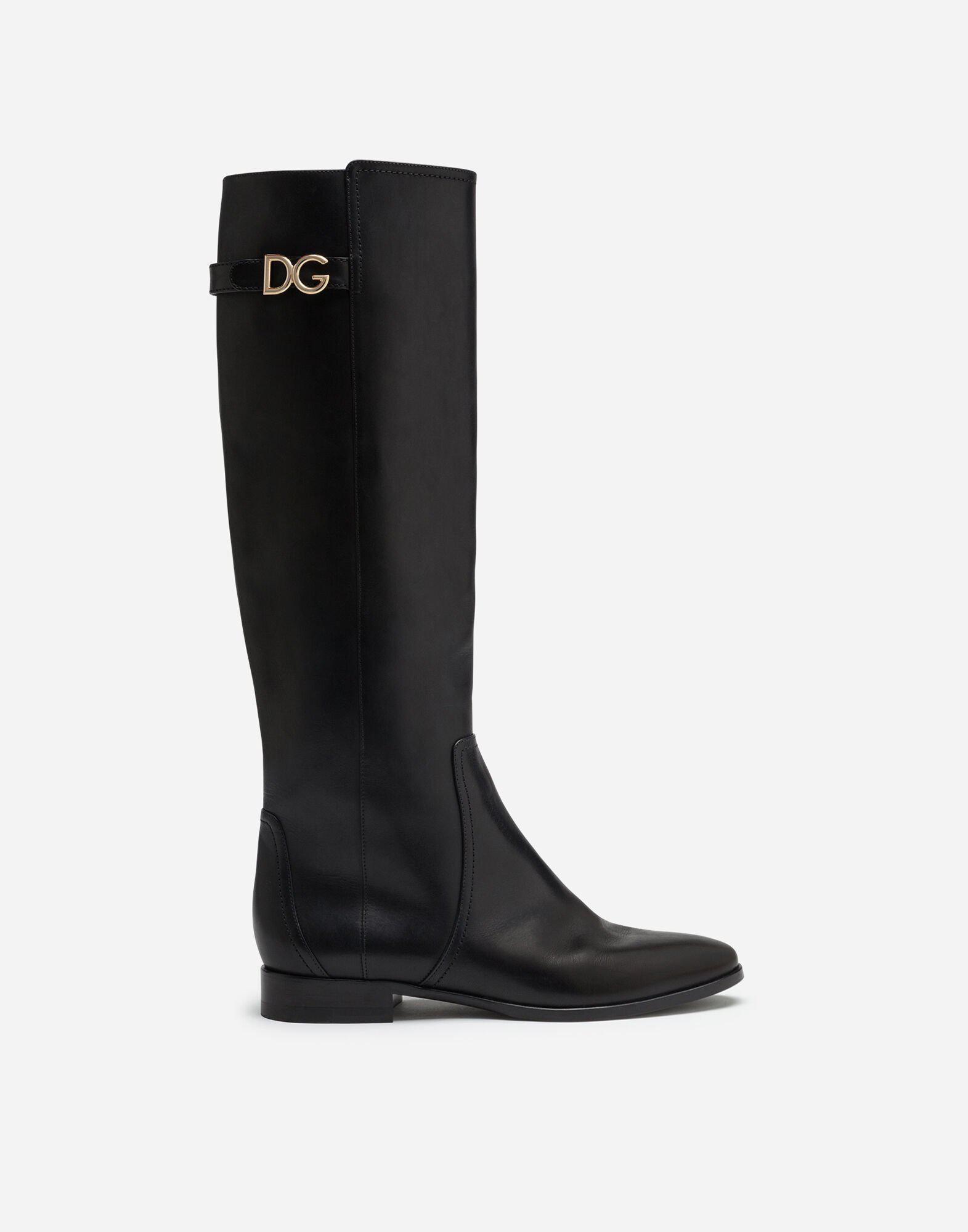 Boots in cowhide with DG logo