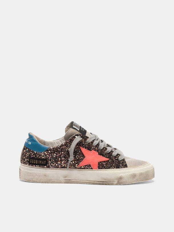 May sneakers in glitter and suede