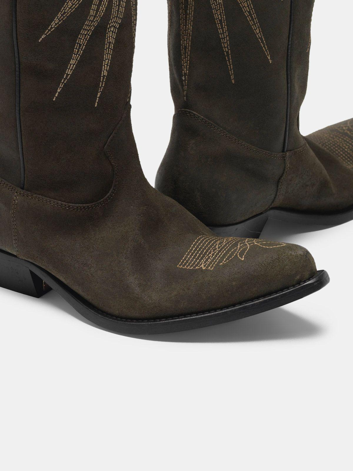 Wish Star boots in leather with Western decoration 3