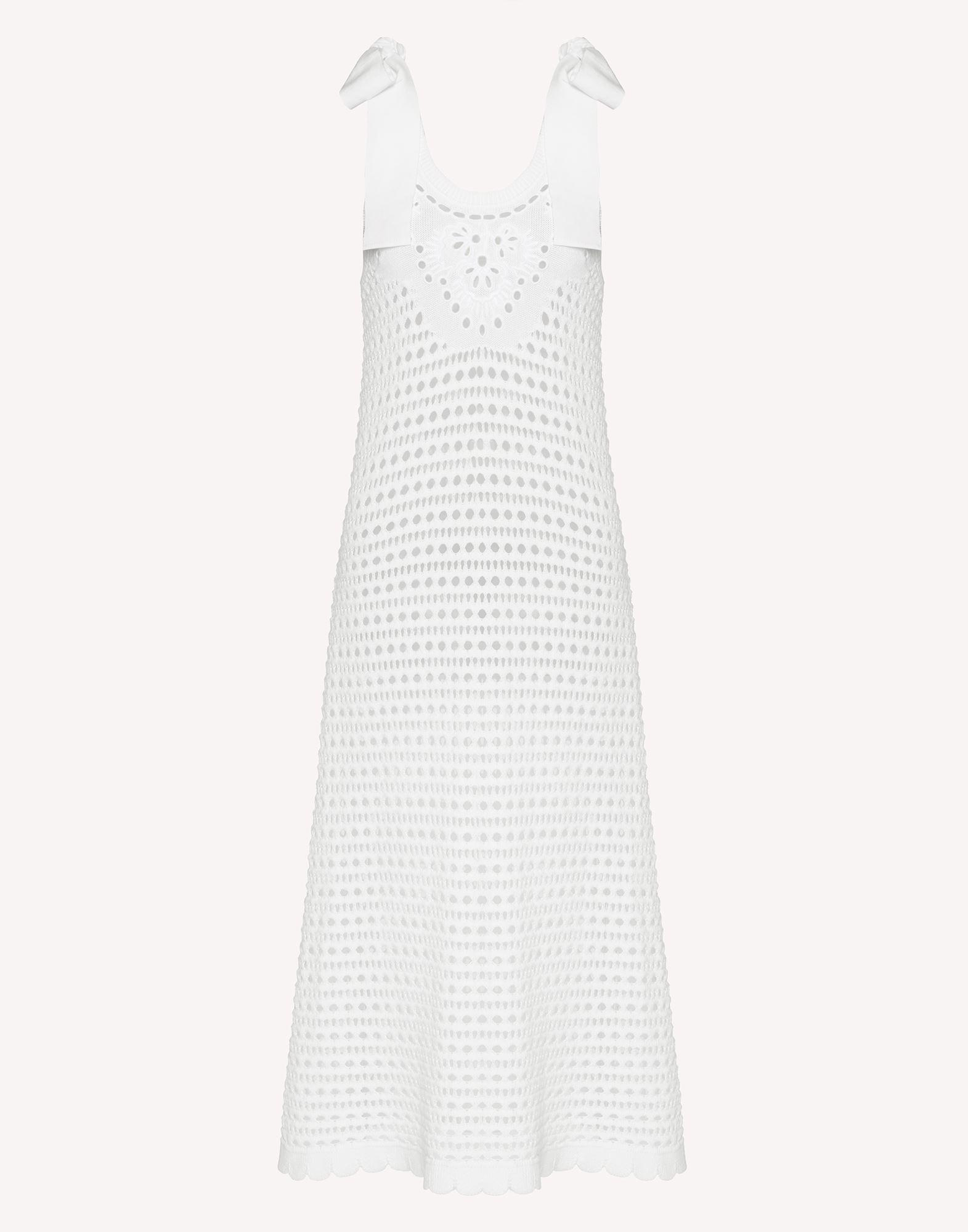 COTTON KNIT DRESS WITH SANGALLO EMBROIDERY 4