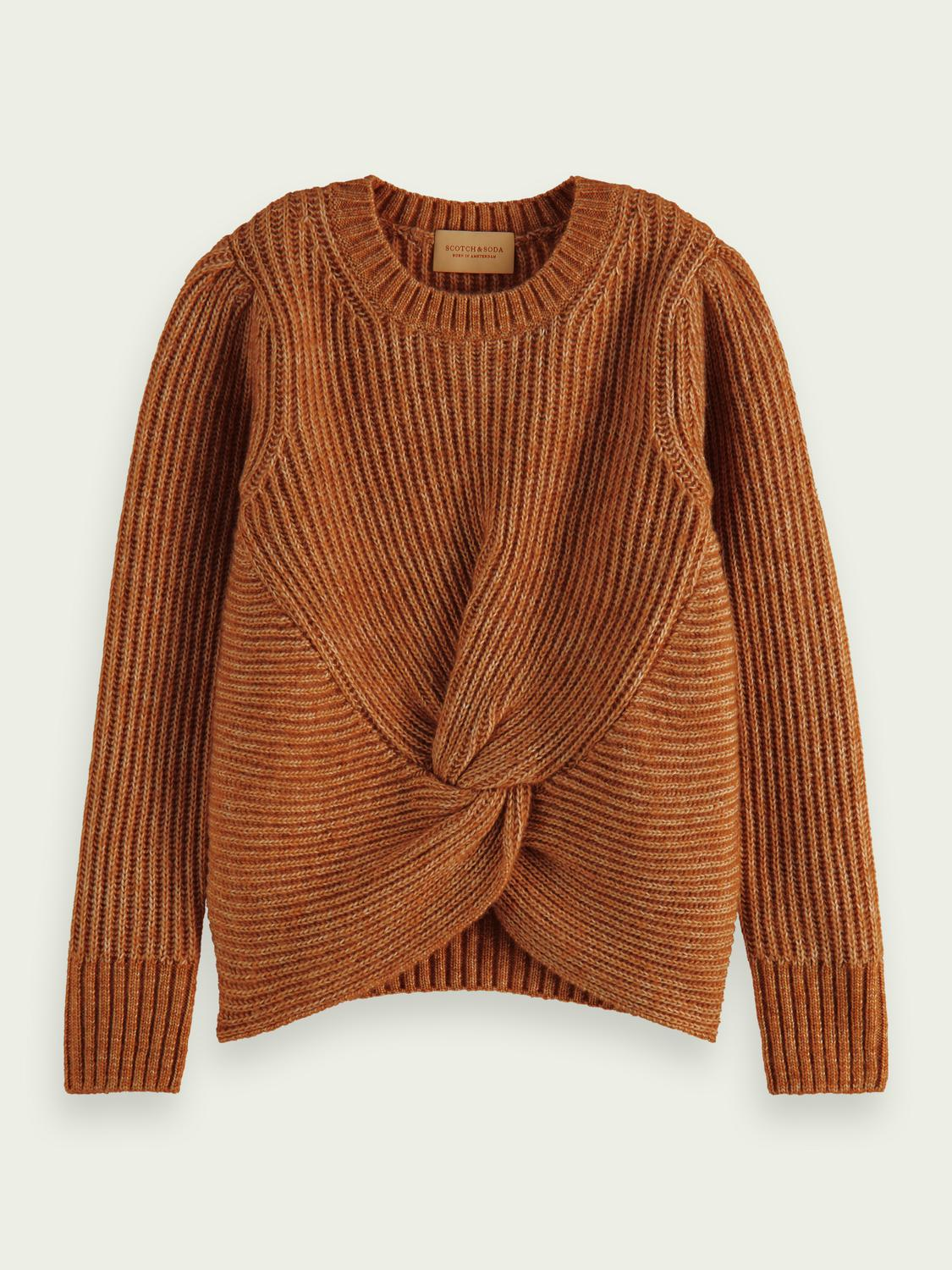 Knotted relaxed-fit sweater