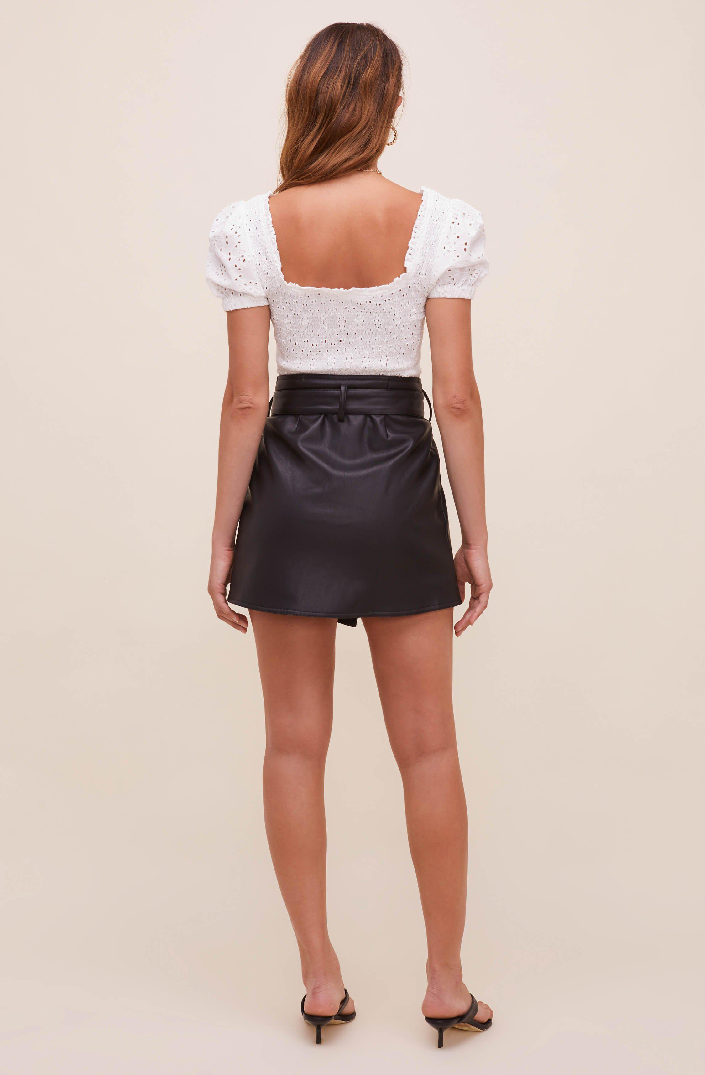 Briar Faux Leather Skirt 4