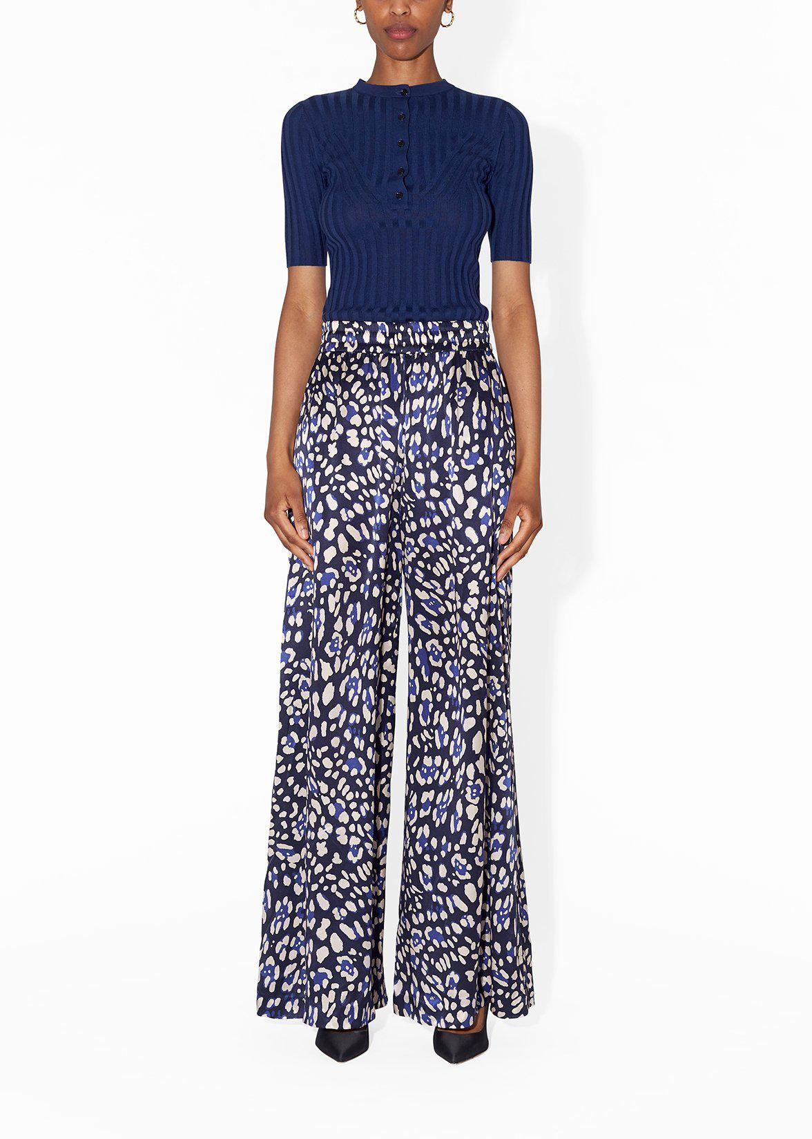 WIDE-LEG PANT IN PRINTED CHARMEUSE