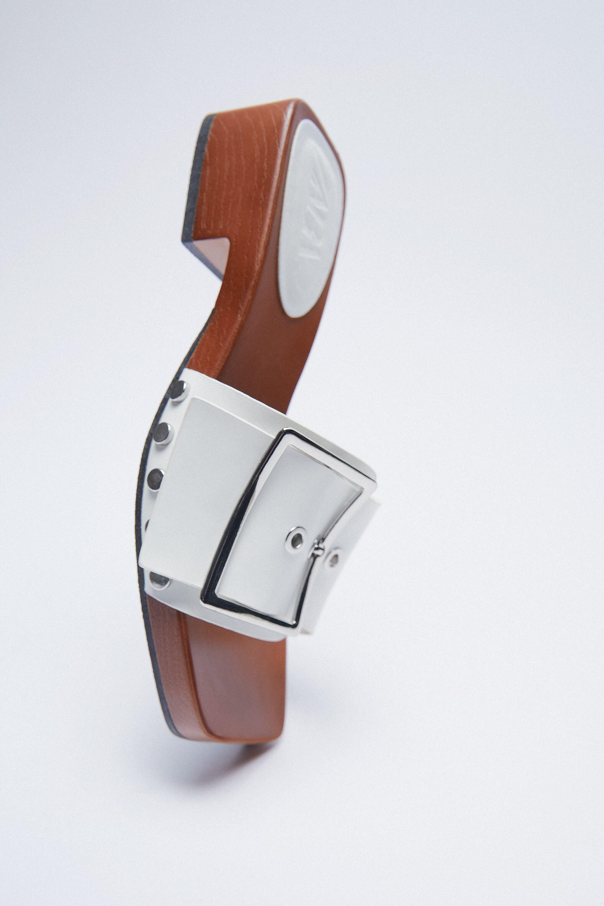 HEELED SANDALS WITH BUCKLE 5