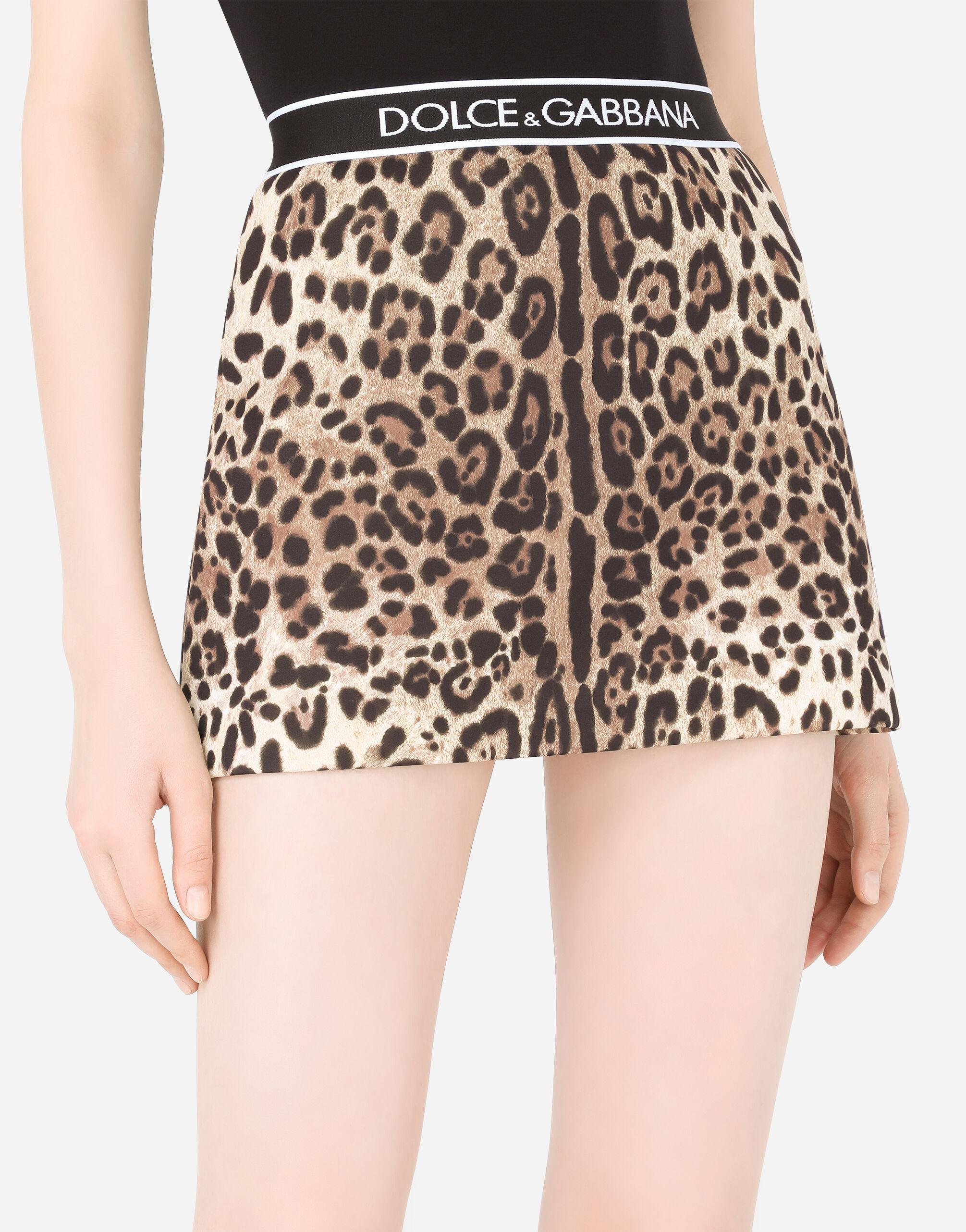 Technical jersey miniskirt with branded elastic 2