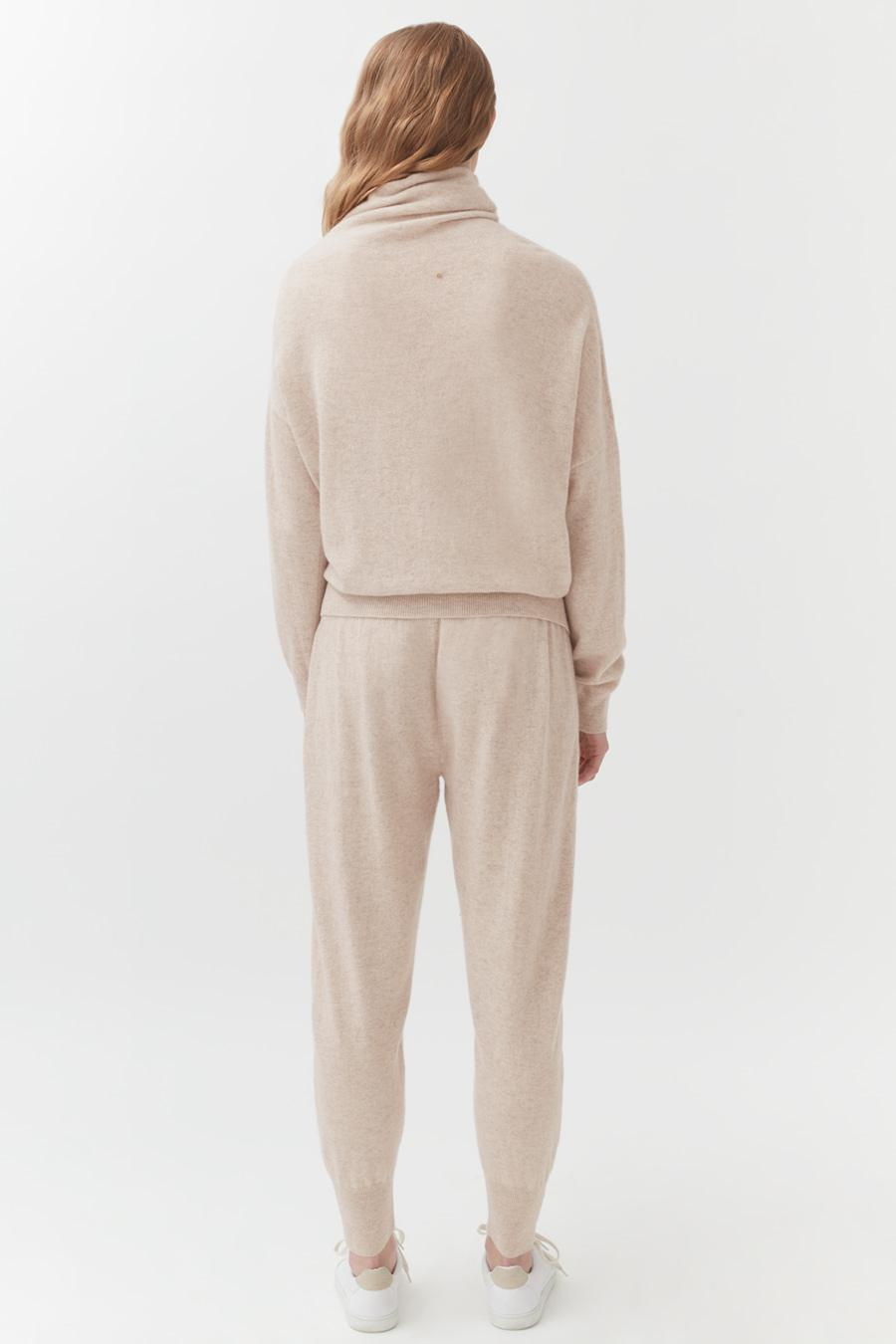 Women's Tapered Pant in Beige | Size: Large | Cashmere by Cuyana 2