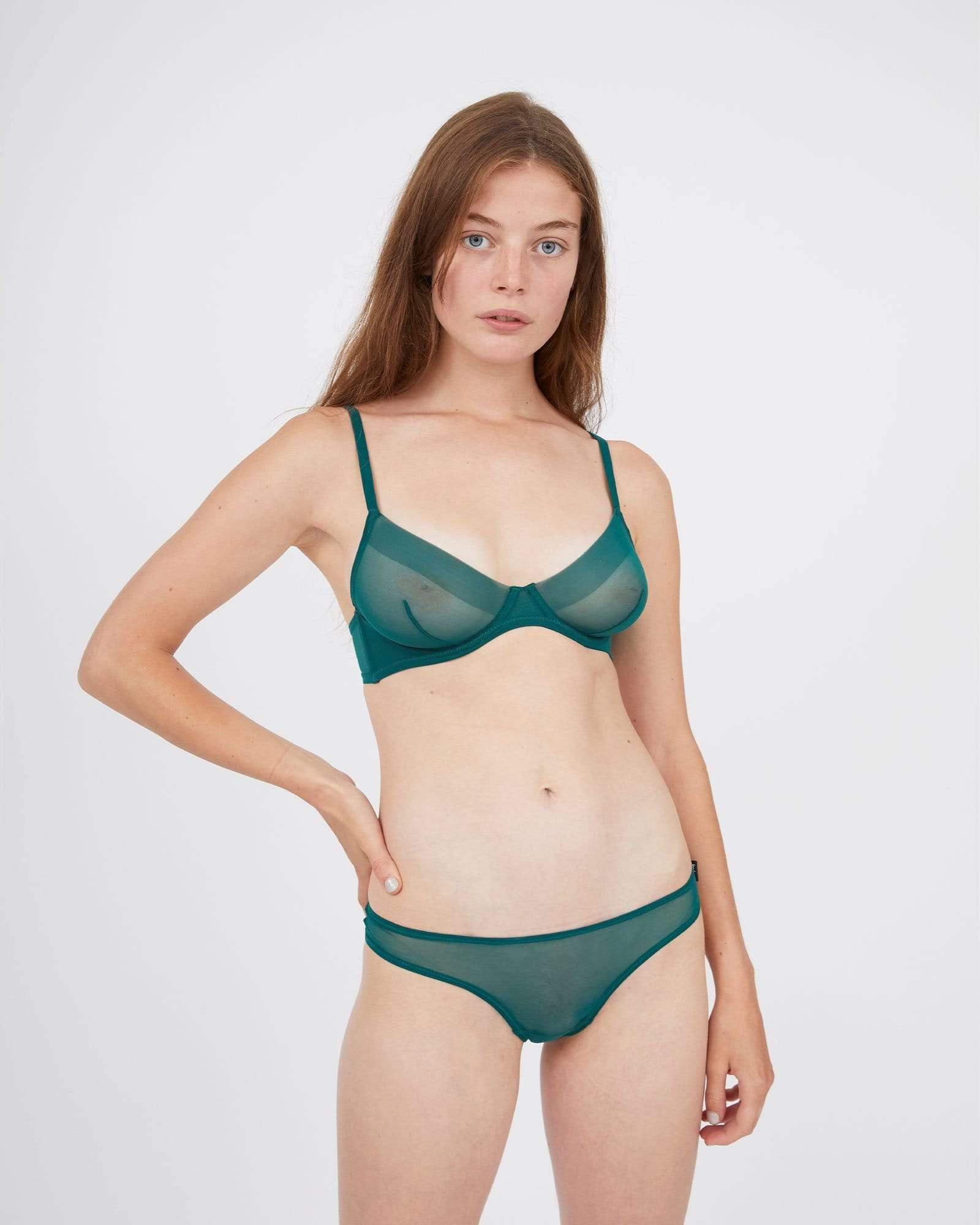 Smooth thong forest green