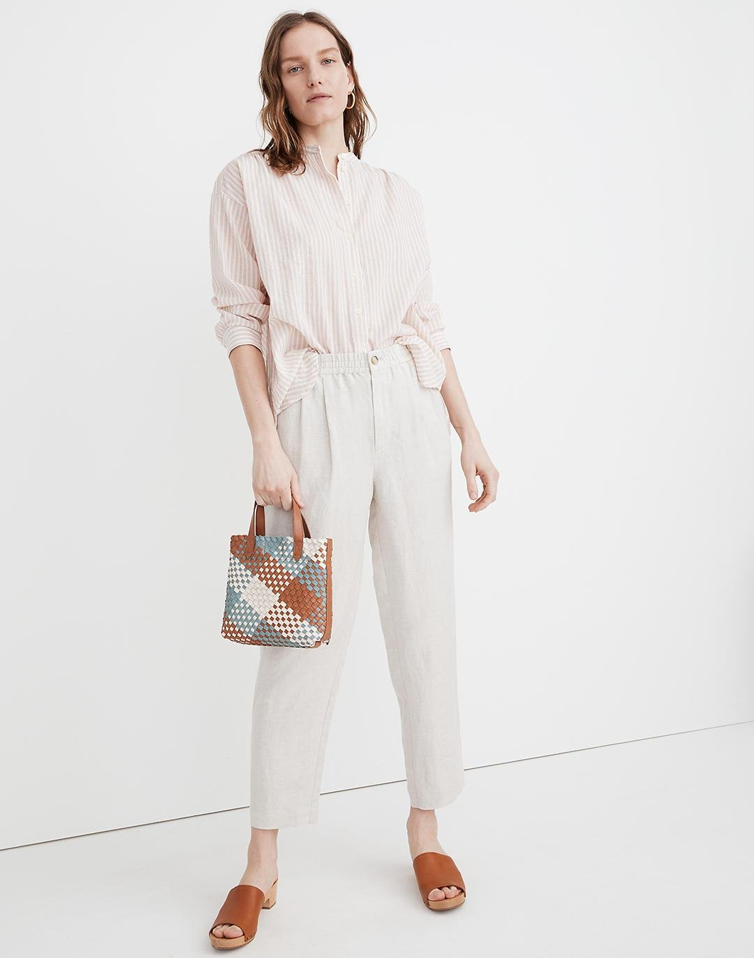 Linen-Blend Track Trousers 0