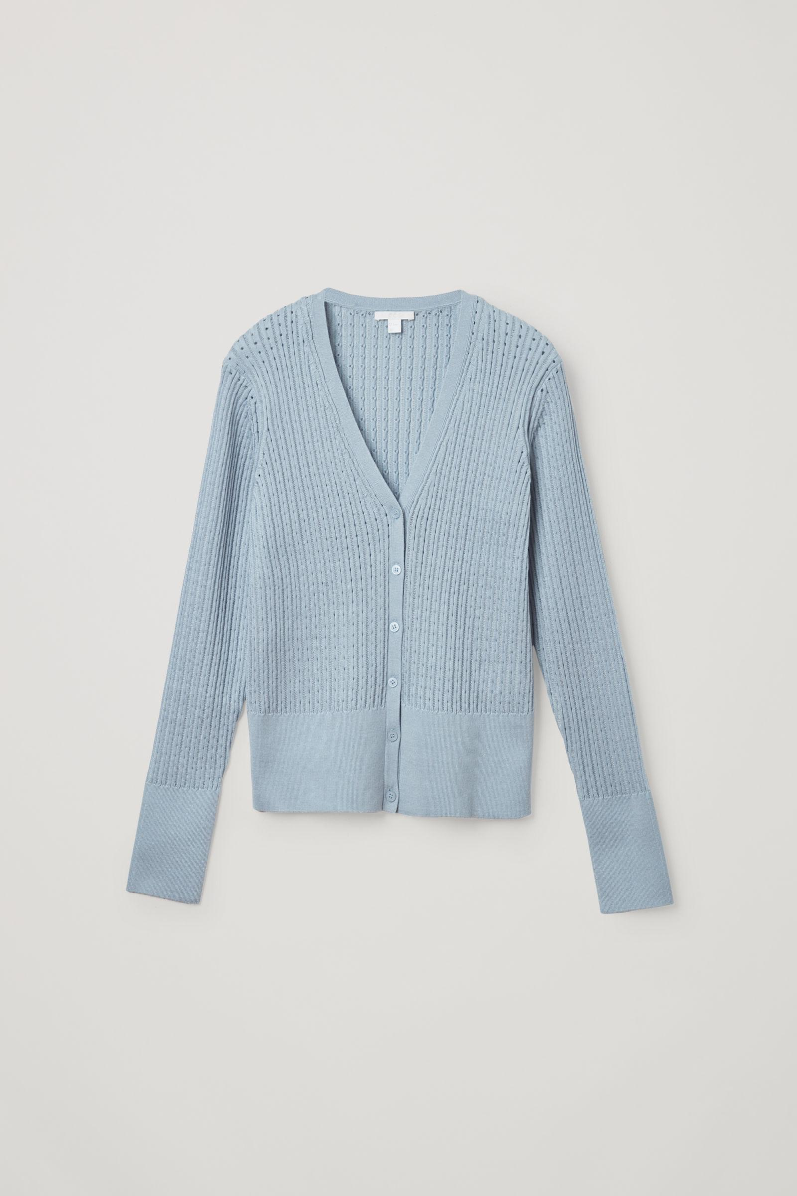 KNITTED SILK MIX CARDIGAN 0