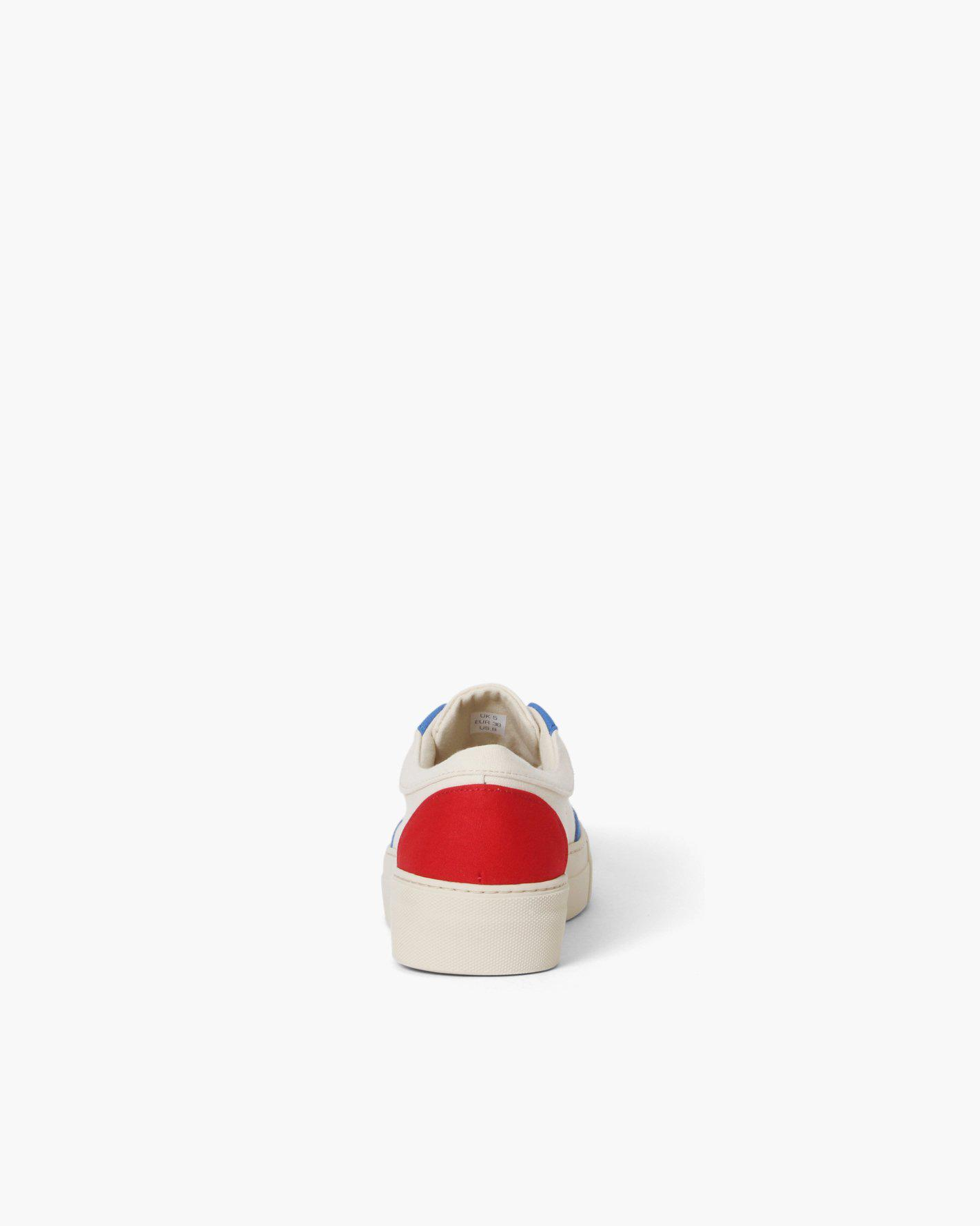 Bailey Sneakers Cotton Canvas Blue + Red - SALE 2