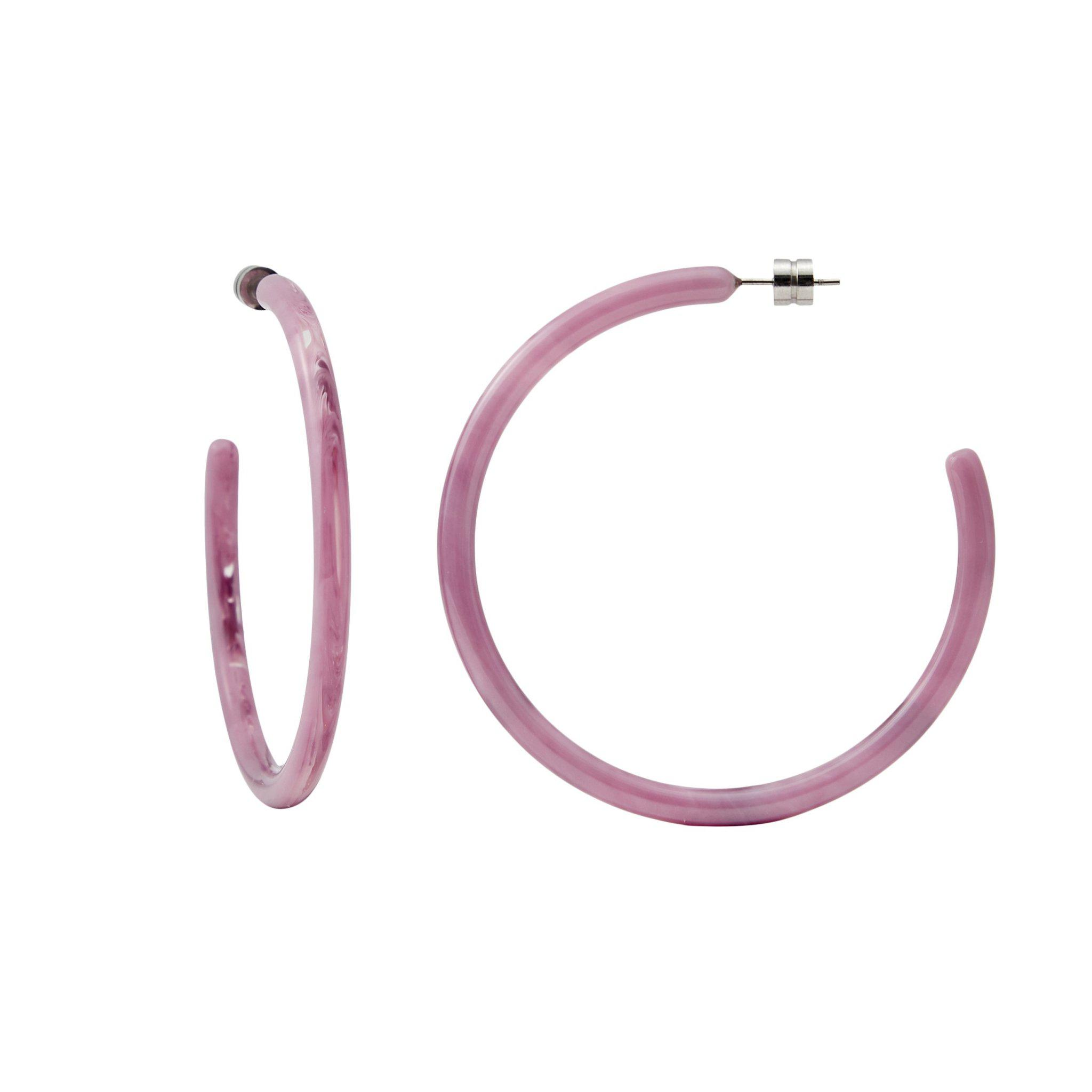 Large Hoops in Orchid