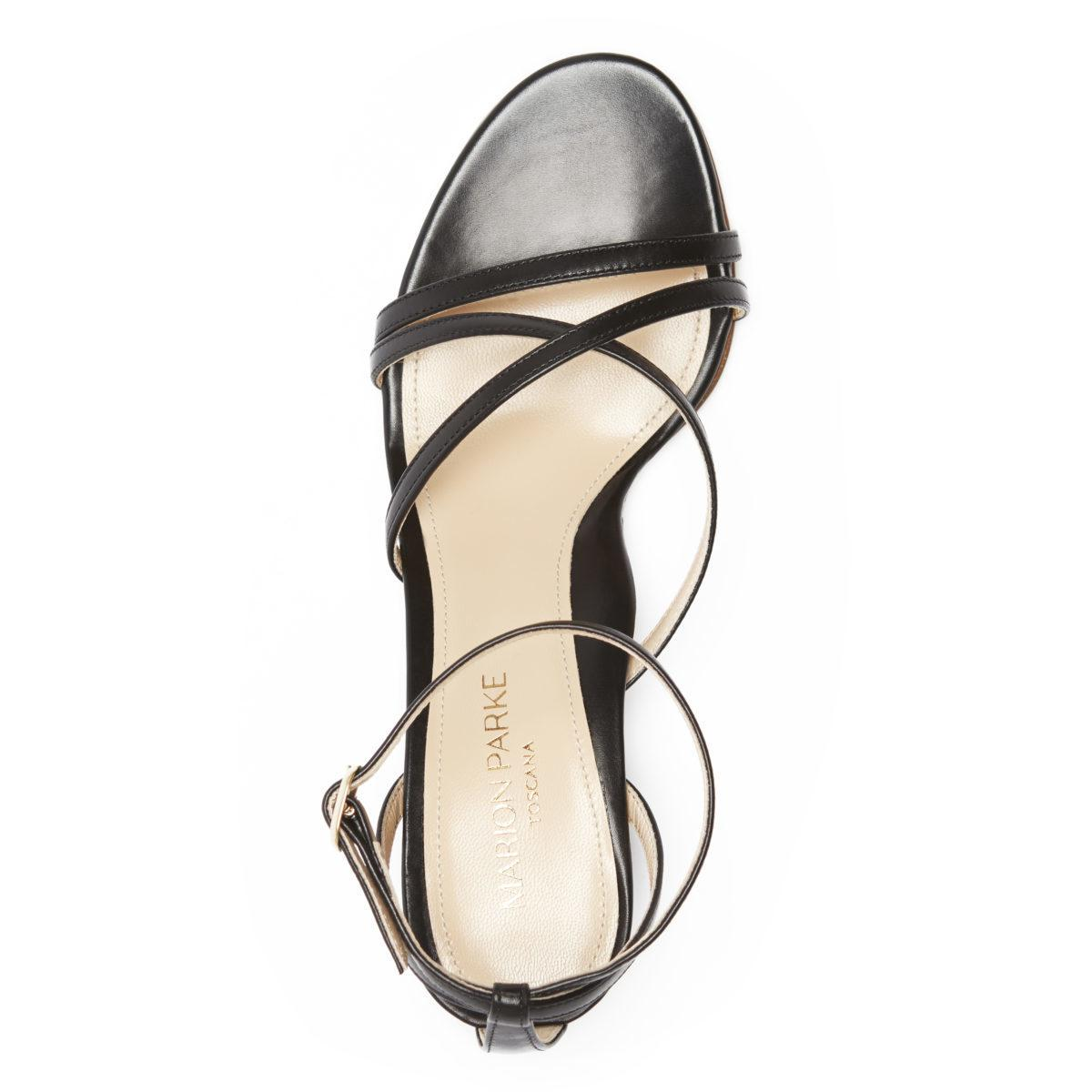 Bianca | Strappy Leather Block Heel Ankle Tie Sandal 2