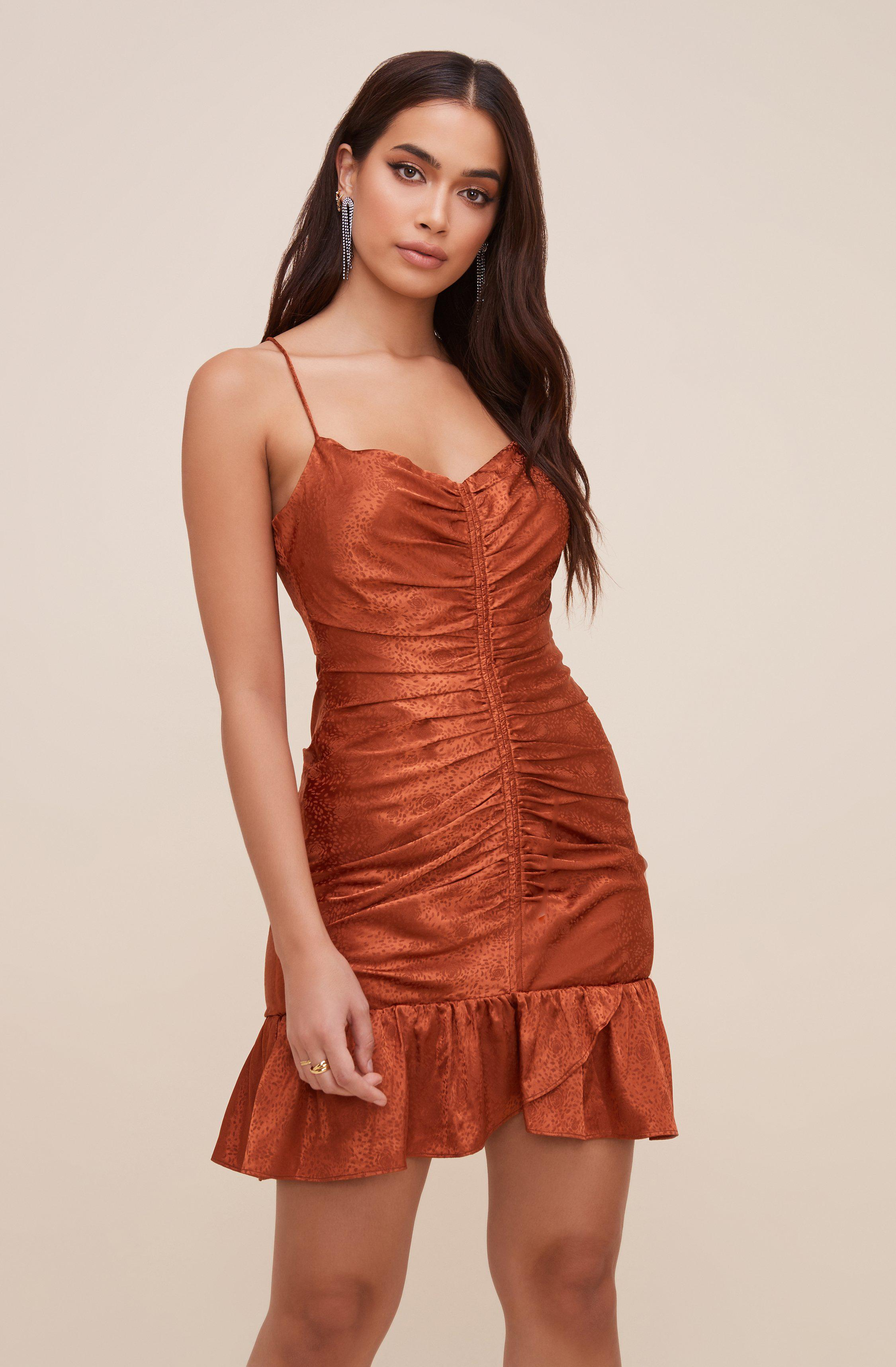 Cinched Open Back Dress