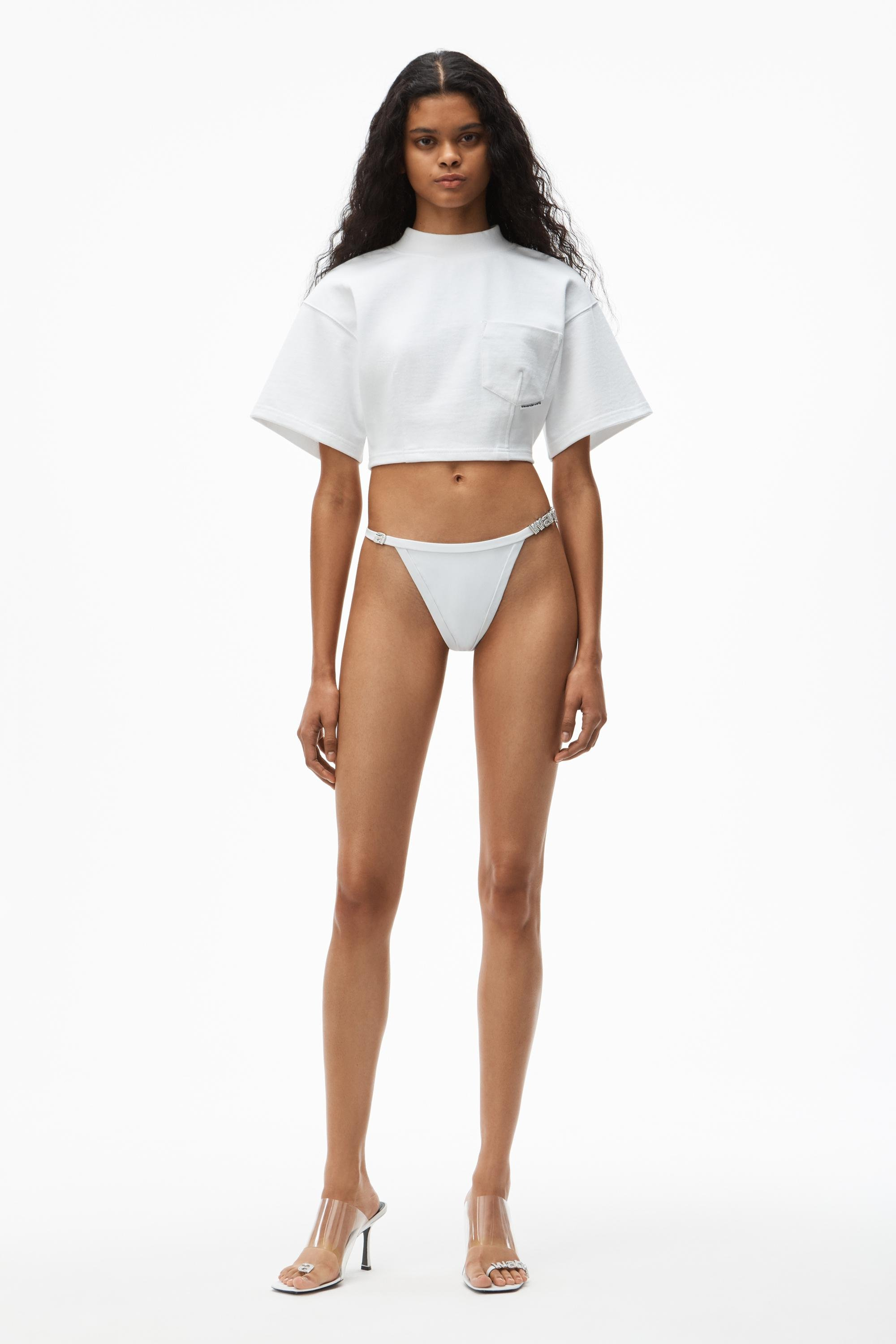 sculpted cropped tee 5