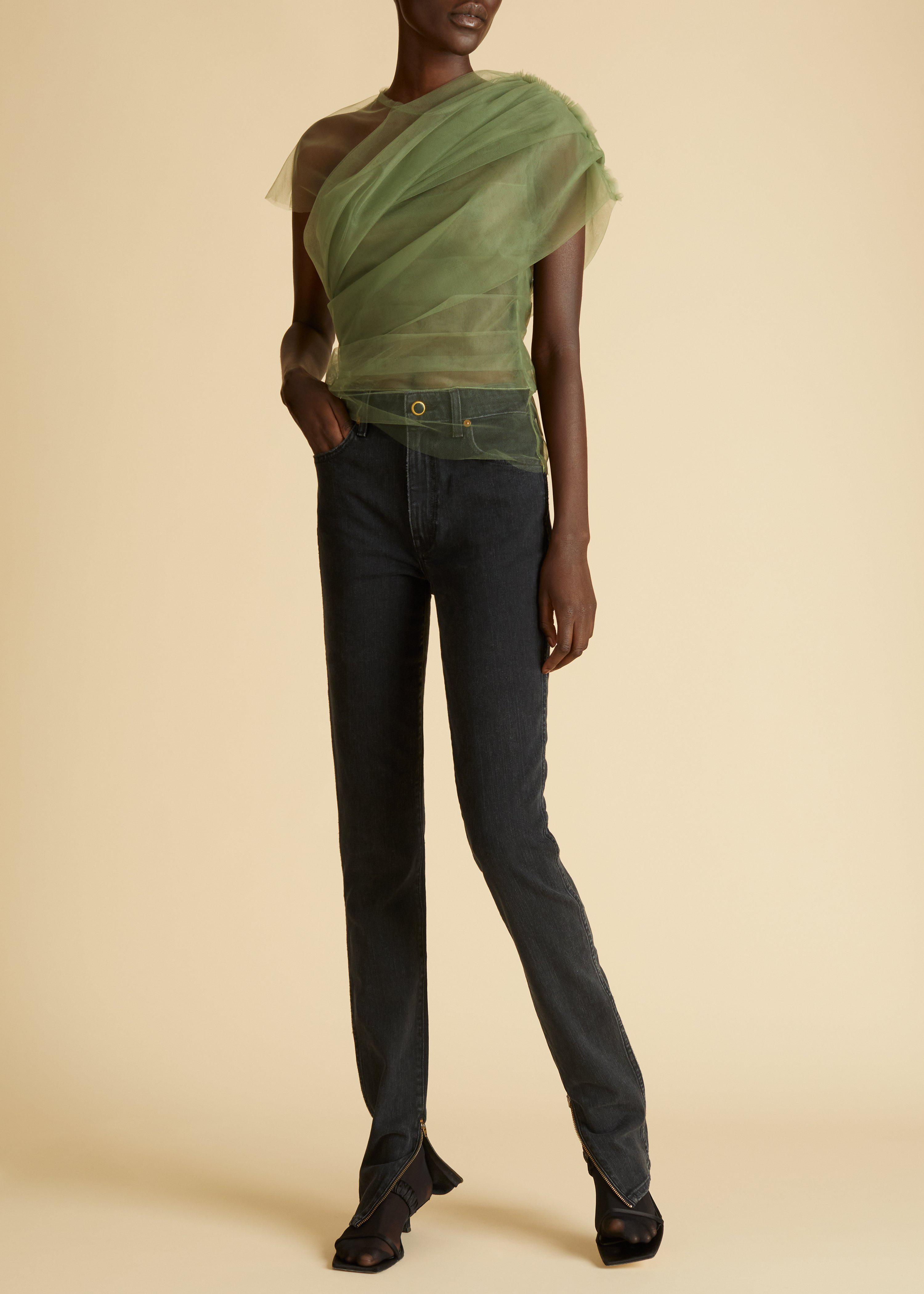 The Quinn Jean in Stoned Black