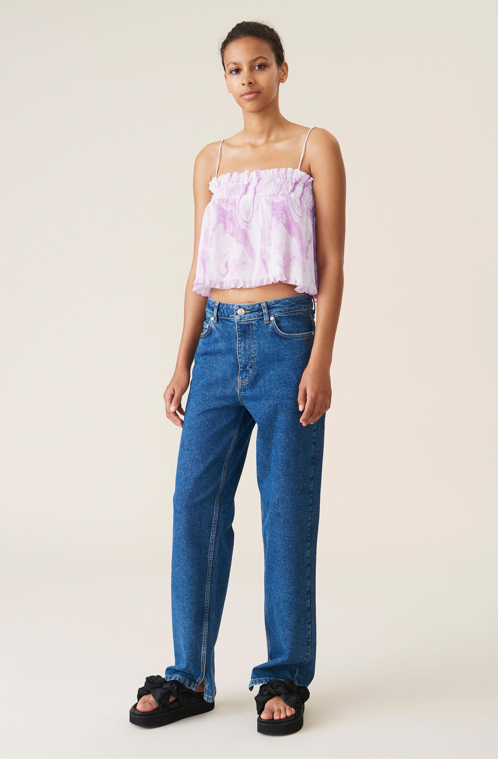 Pleated Georgette Strap Top 1