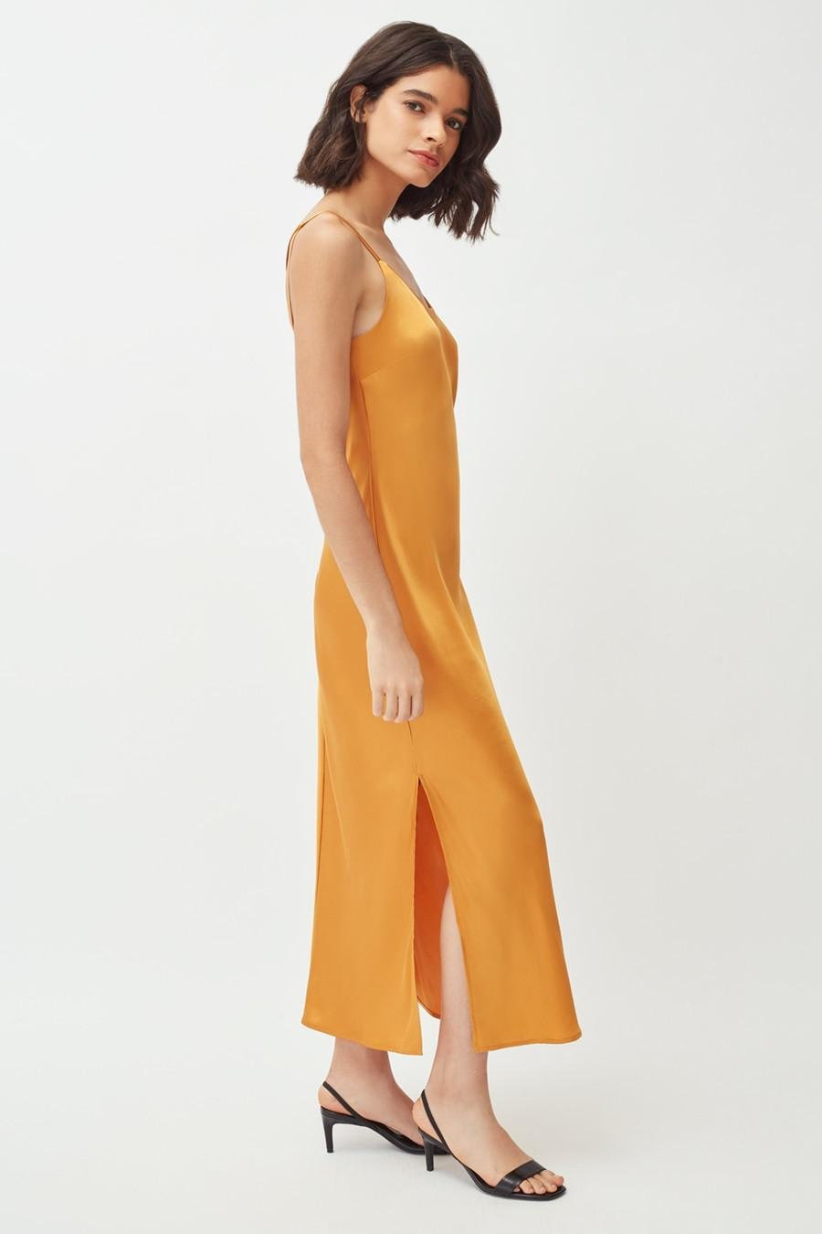 Women's Charmeuse Slip Dress in Citrine | Size: Large | Silk Charmeuse by Cuyana 2