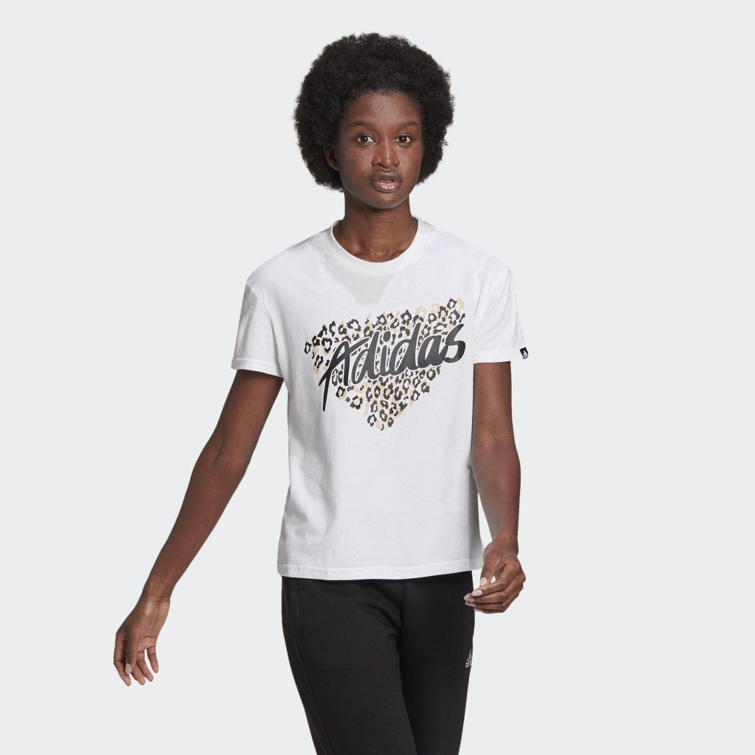 Leopard Graphic Tee White 4
