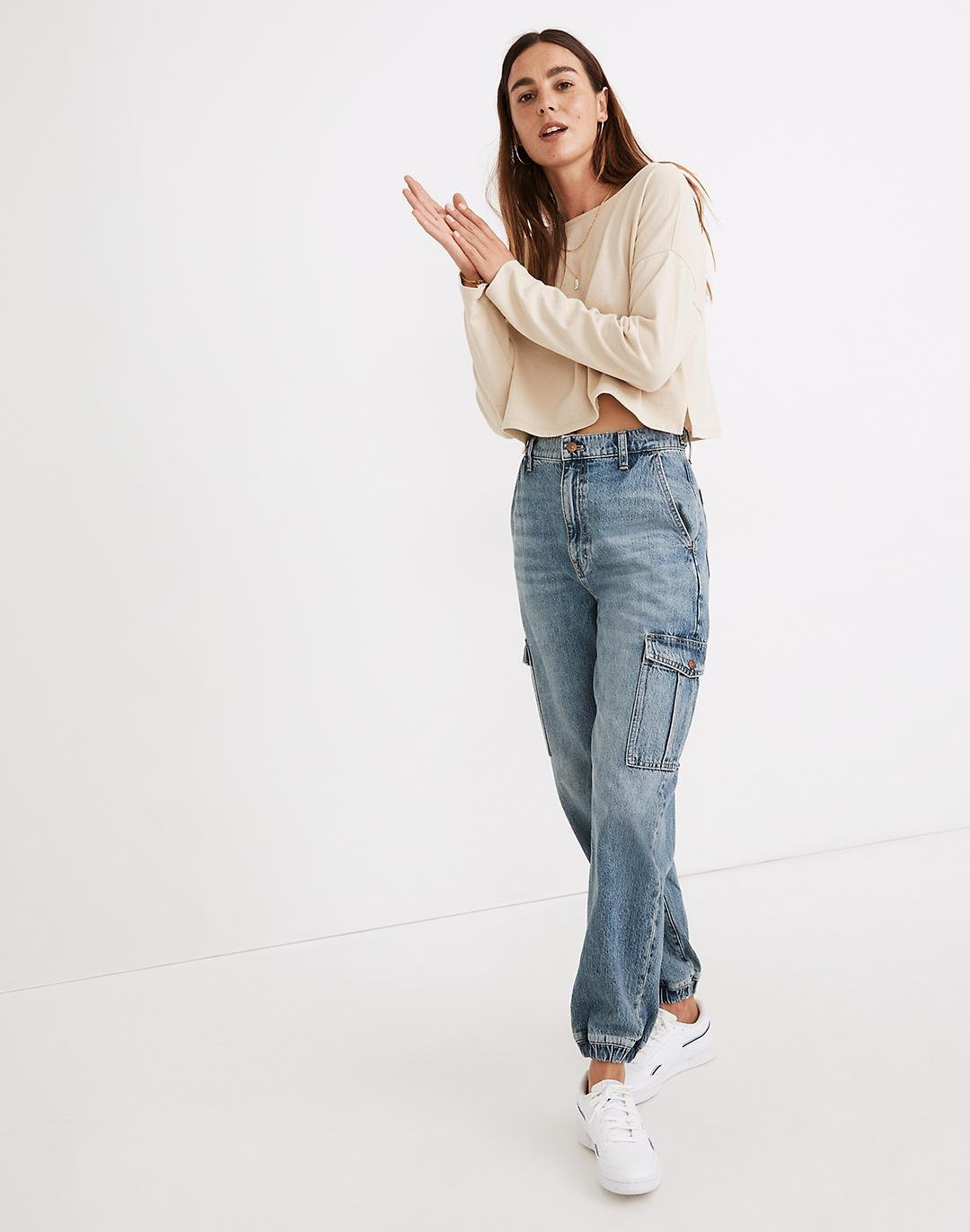 Cargo Jogger Jeans in Leegate Wash