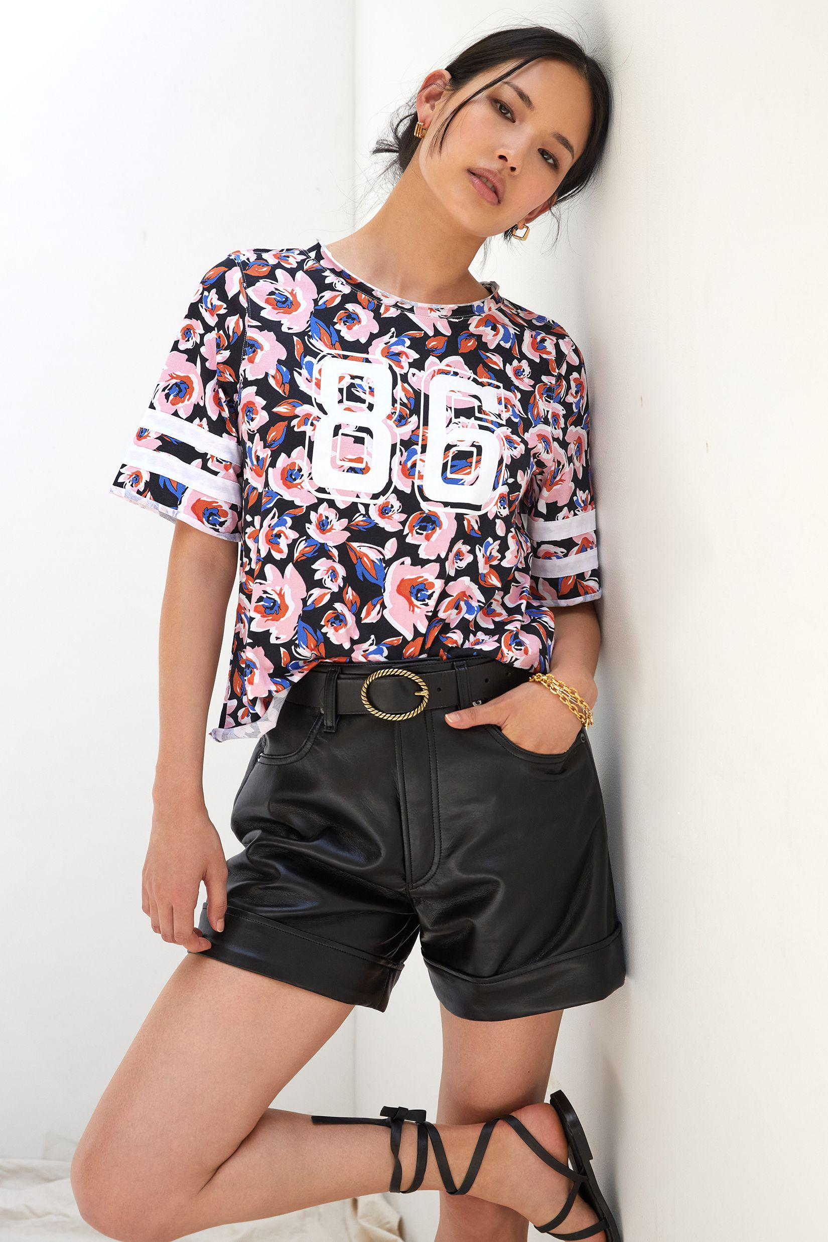 Maeve Floral Varsity Graphic Tee