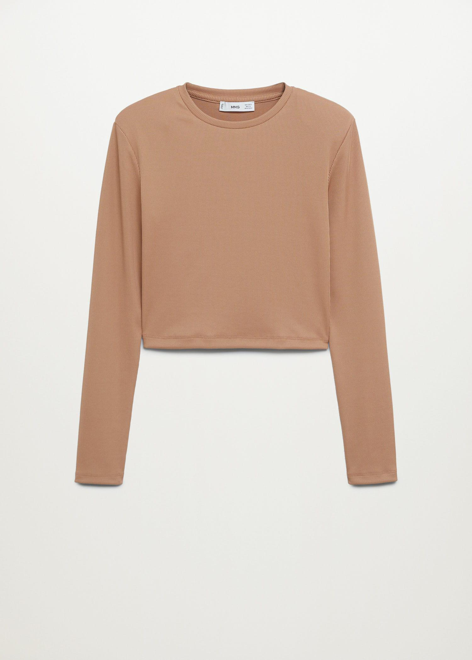 Long-sleeved cropped t-shirt 6