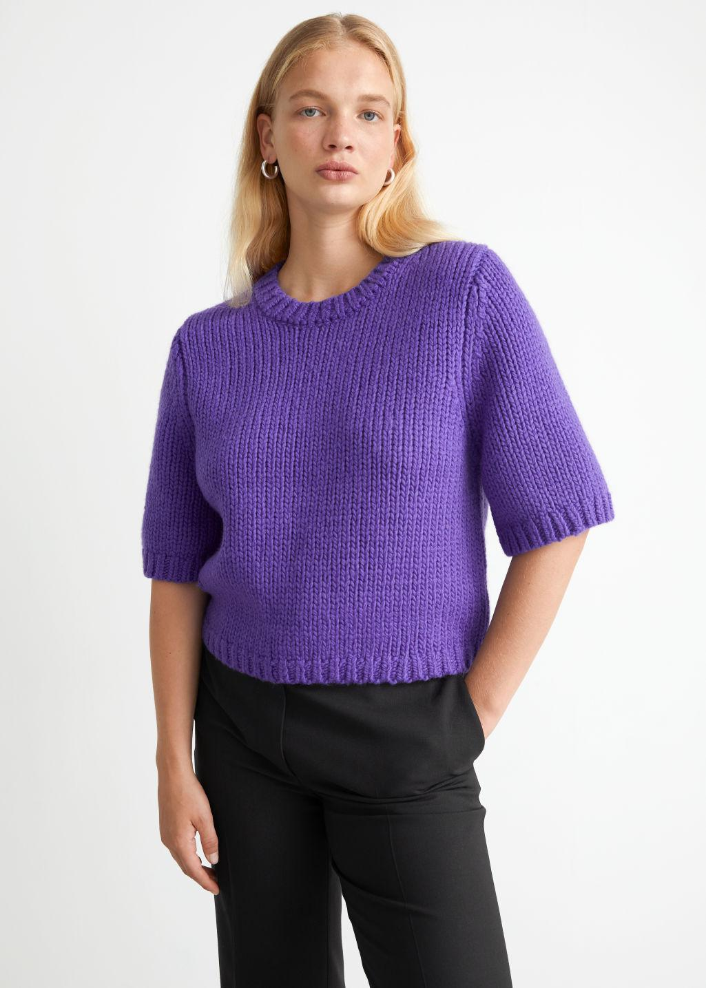 Cropped Knit Top