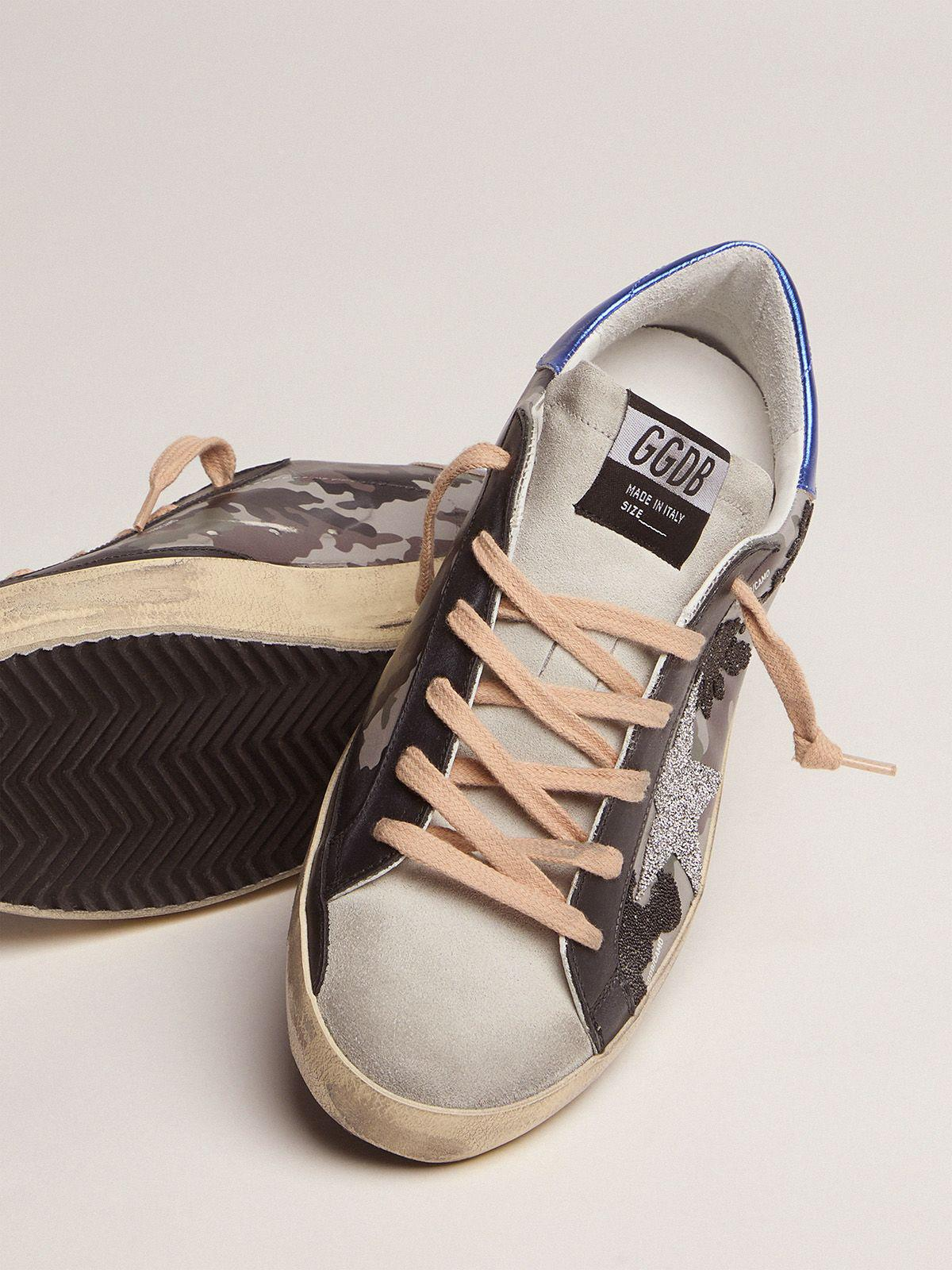 Camouflage Super-Star sneakers with glitter 2