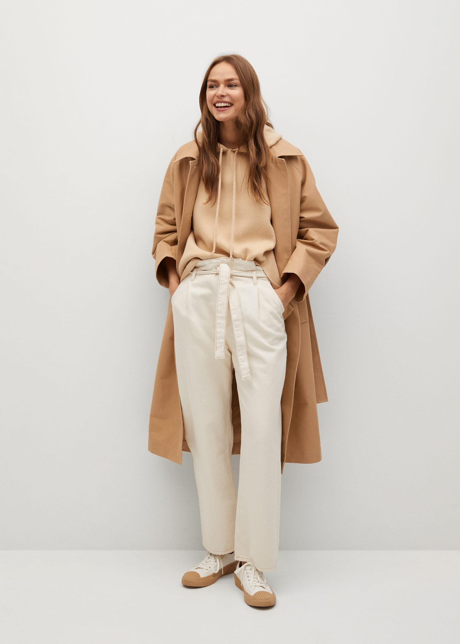 Water-repellent cotton trench 1