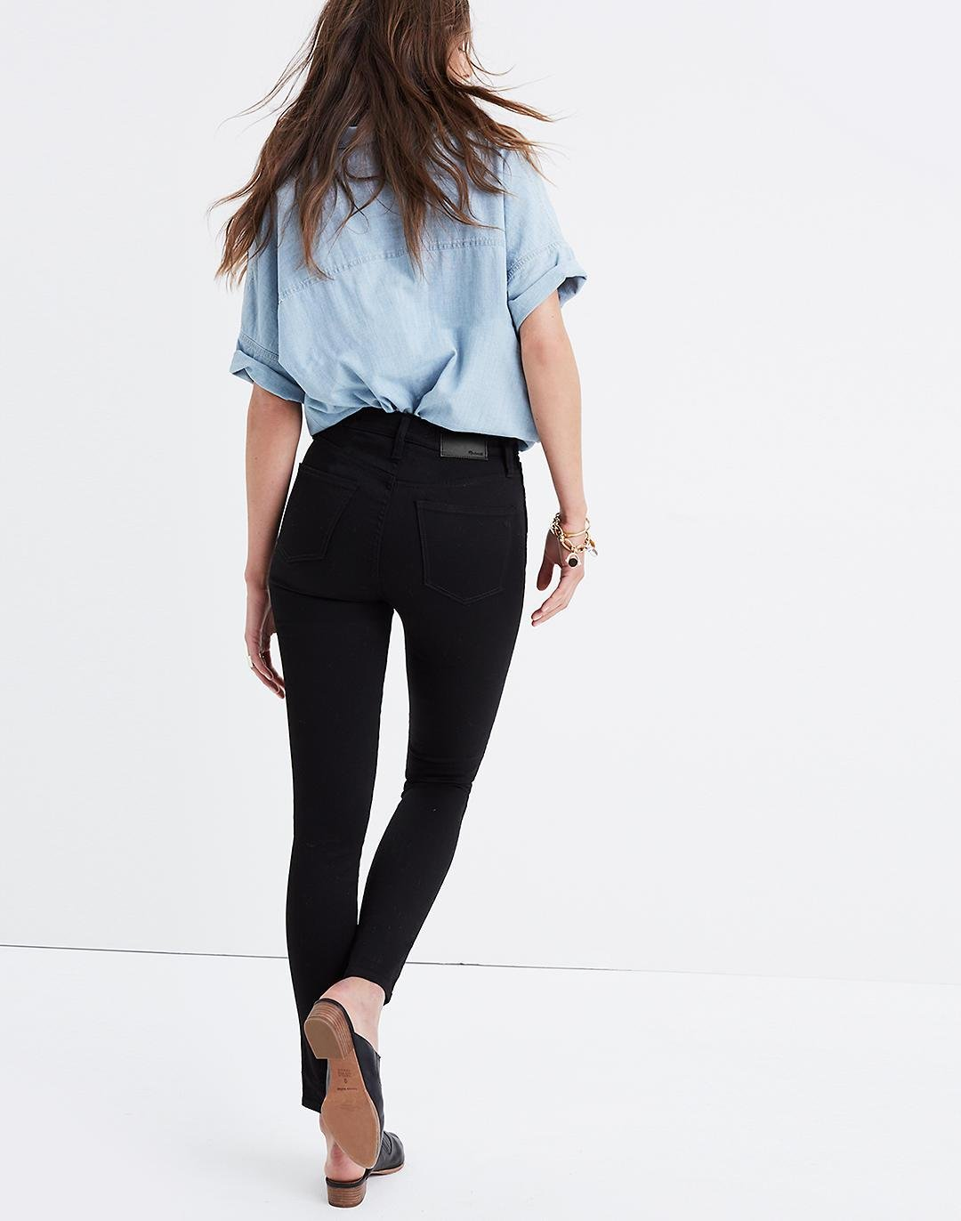 """10"""" High-Rise Skinny Jeans in Carbondale Wash 3"""
