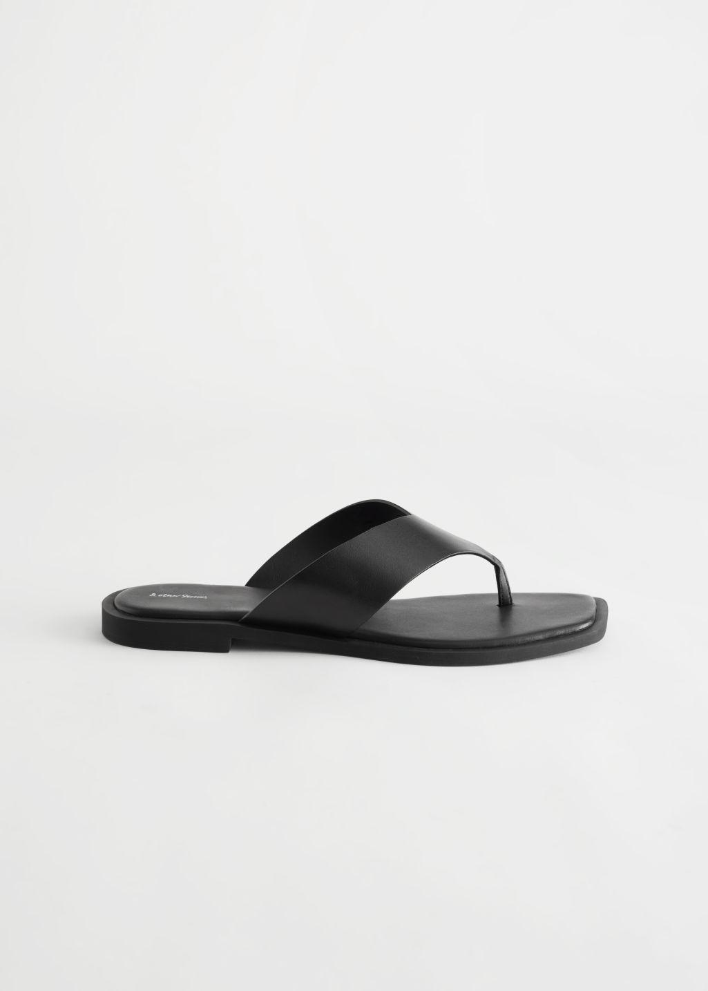 Leather Thong Strap Sandals