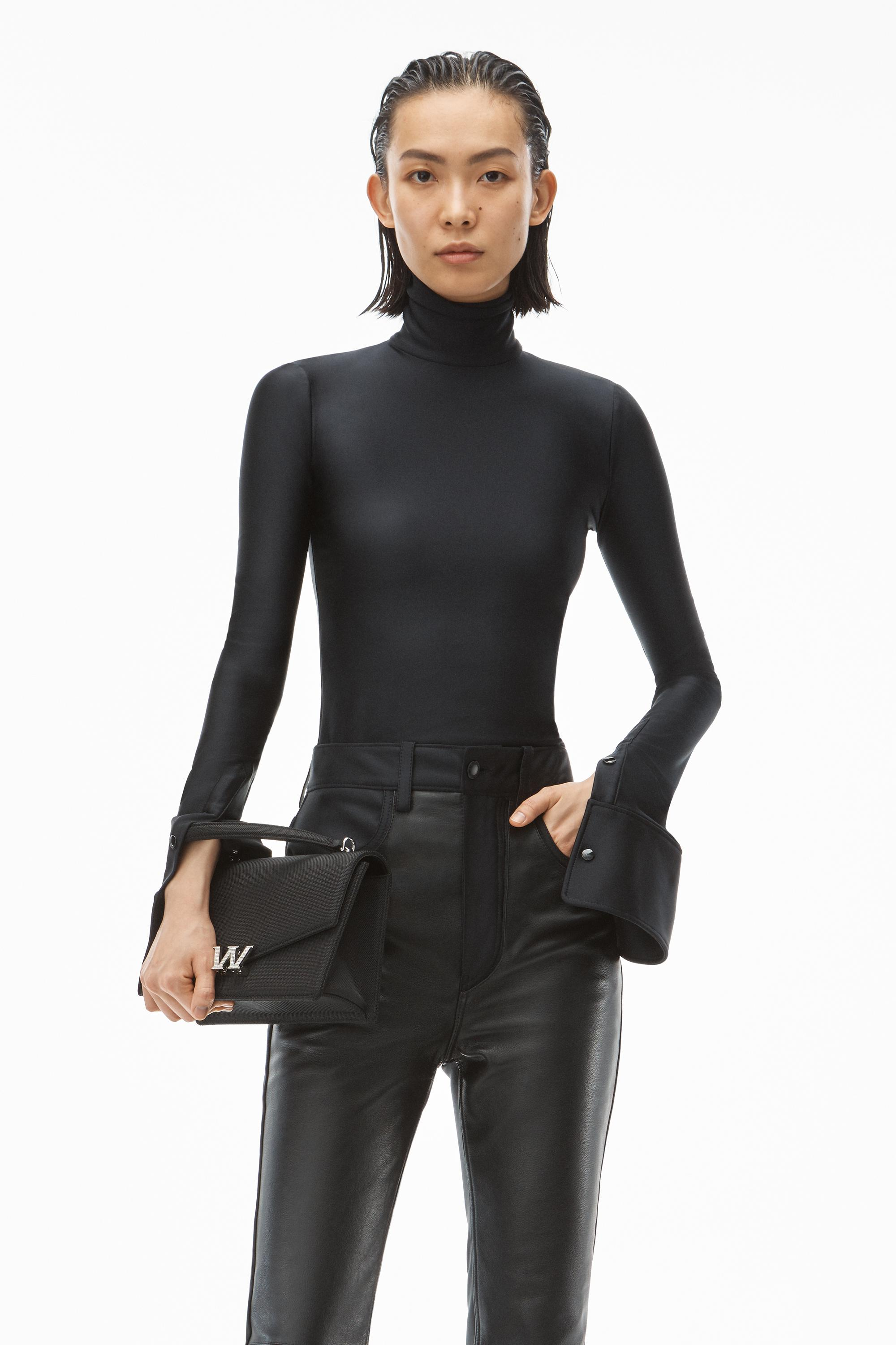 turtleneck top in active stretch knit