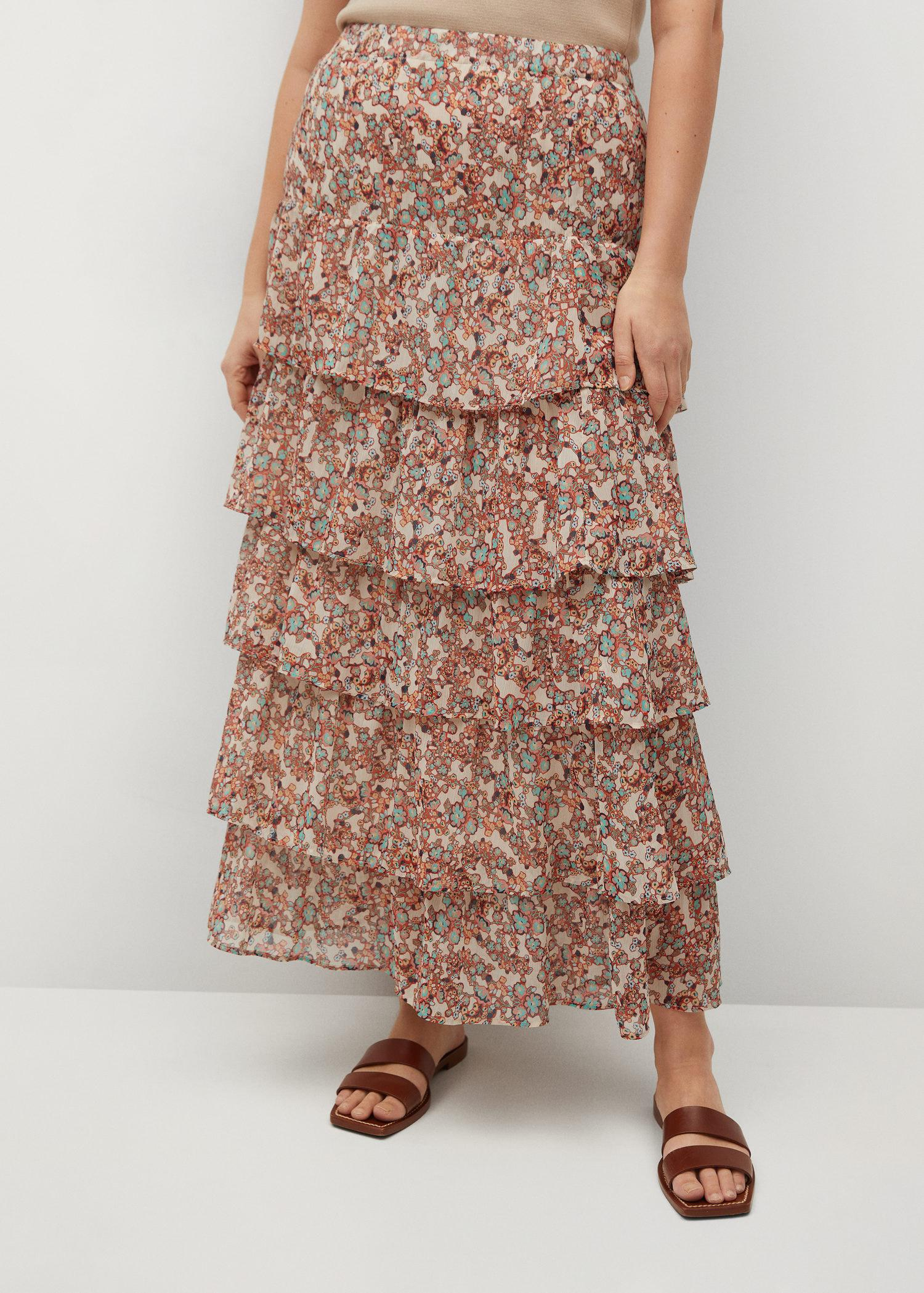 Printed skirt with ruffles 1