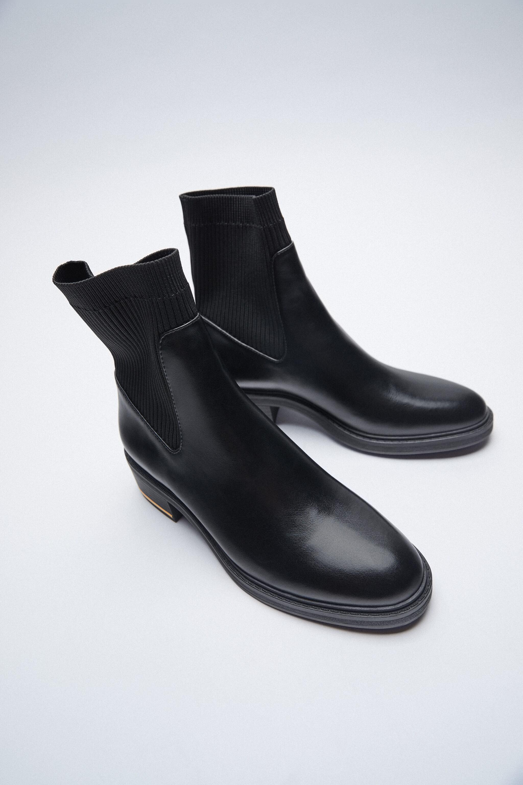 LOW HEELED SOCK-STYLE ANKLE BOOTS 2