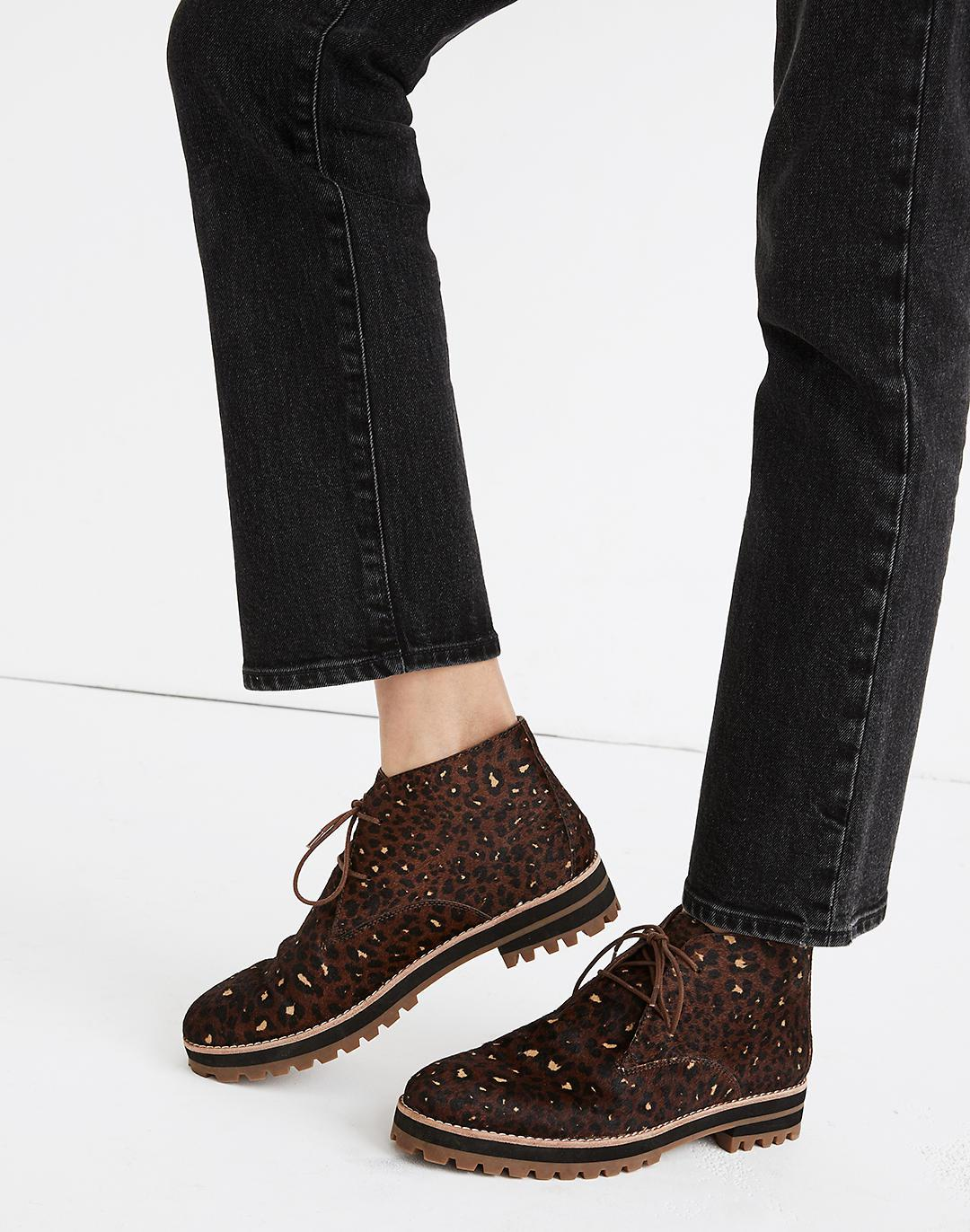 The Wren Boot in Painted Leopard Calf Hair 3