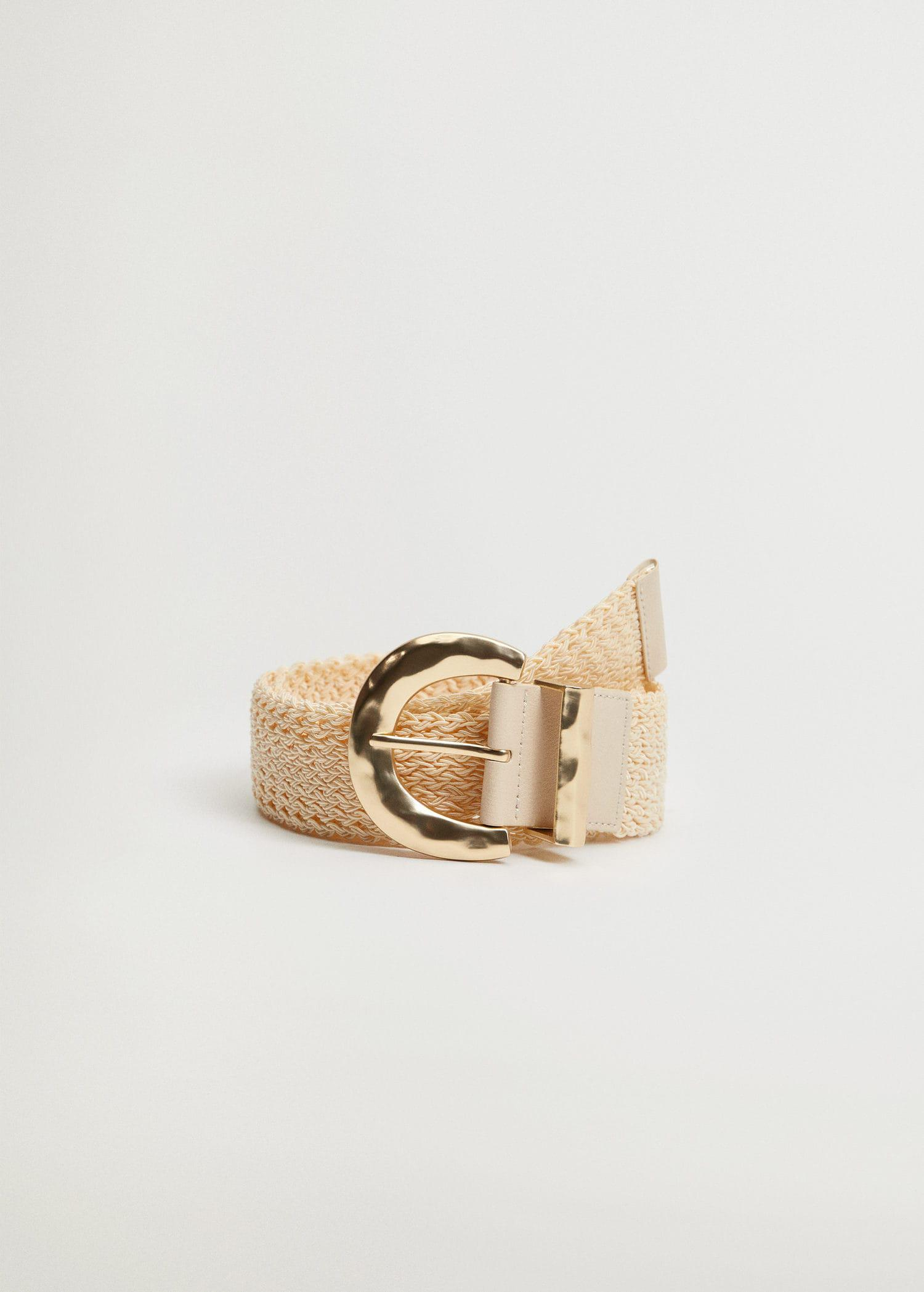 Textured metal buckle belt