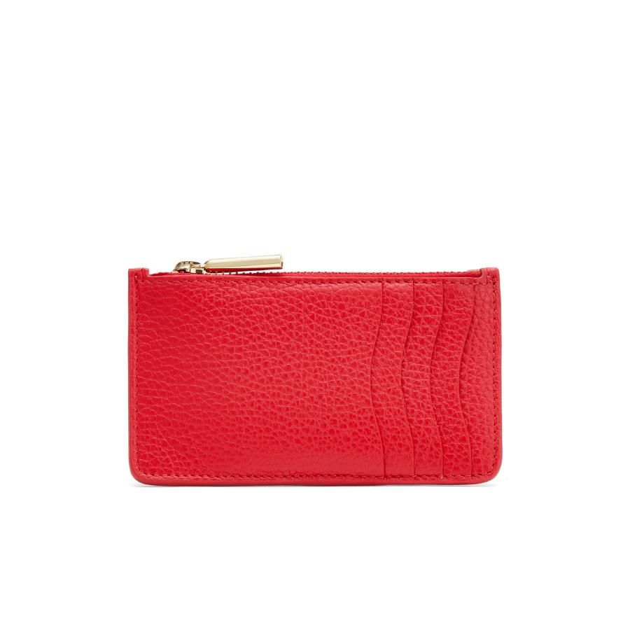 Women's Zip Cardholder in Lipstick | Pebbled Leather by Cuyana