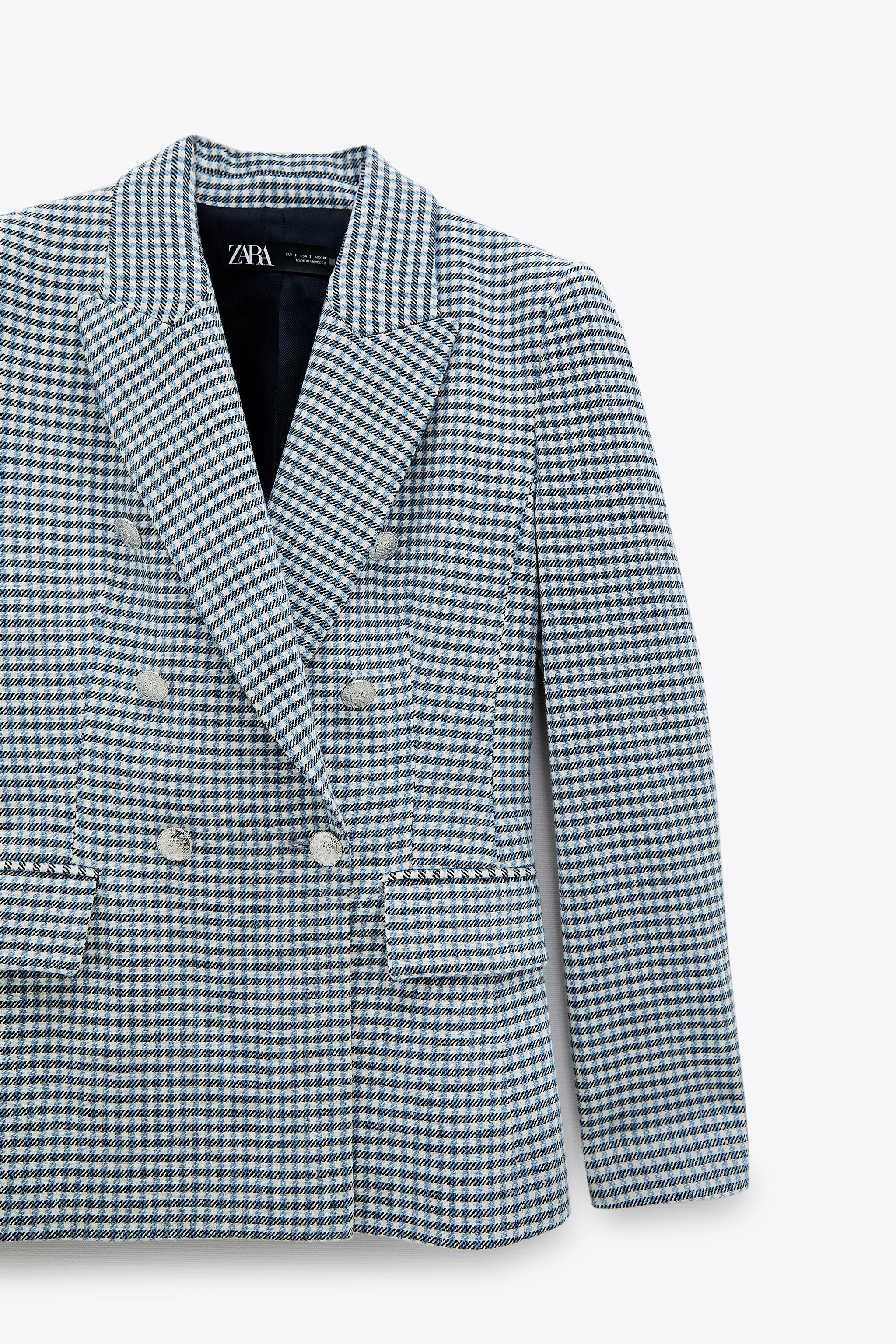 DOUBLE BREASTED HOUNDSTOOTH BLAZER 8