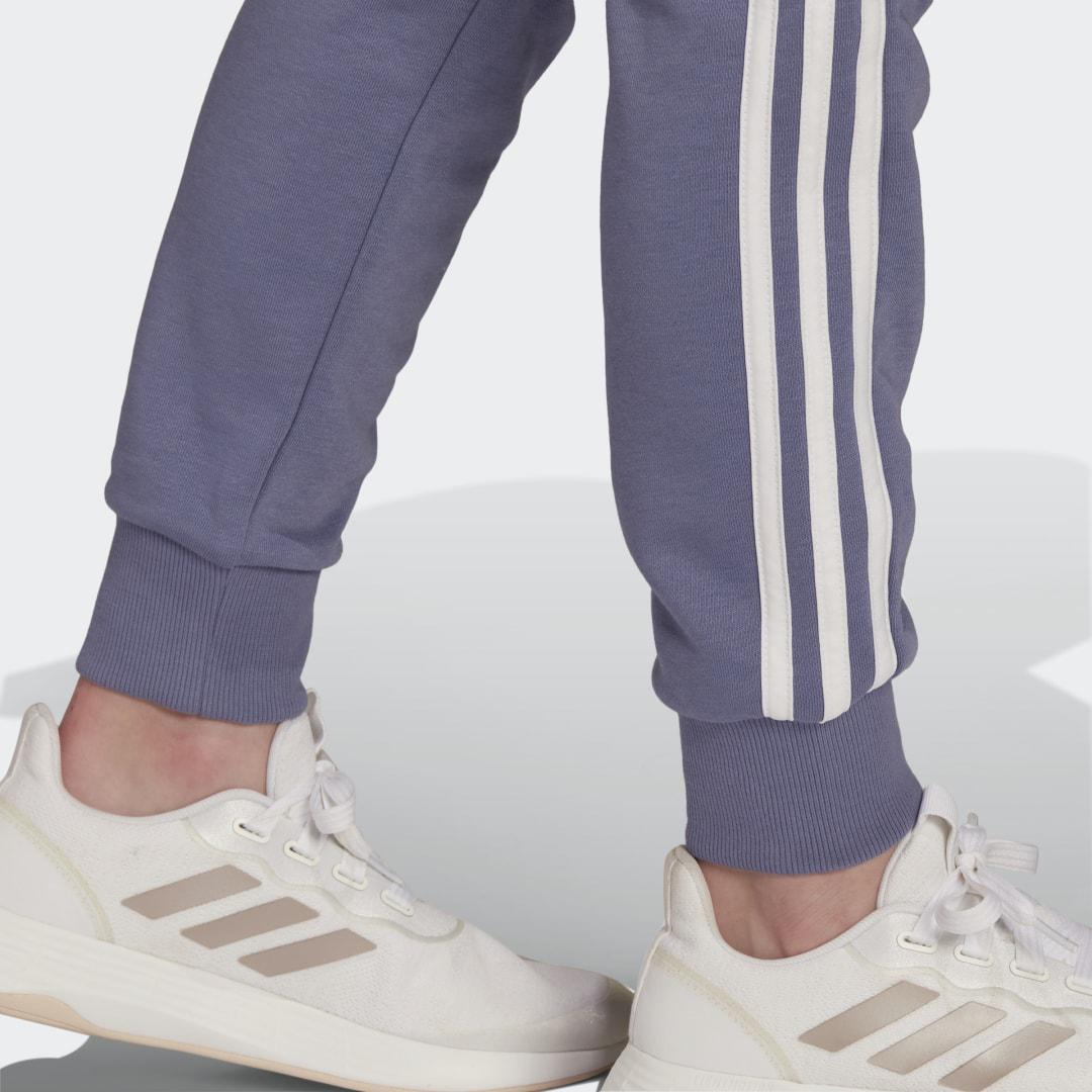 Essentials French Terry 3-Stripes Pants Orbit Violet 2