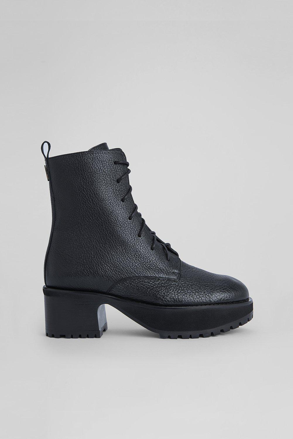 Cobain Black Grained Leather