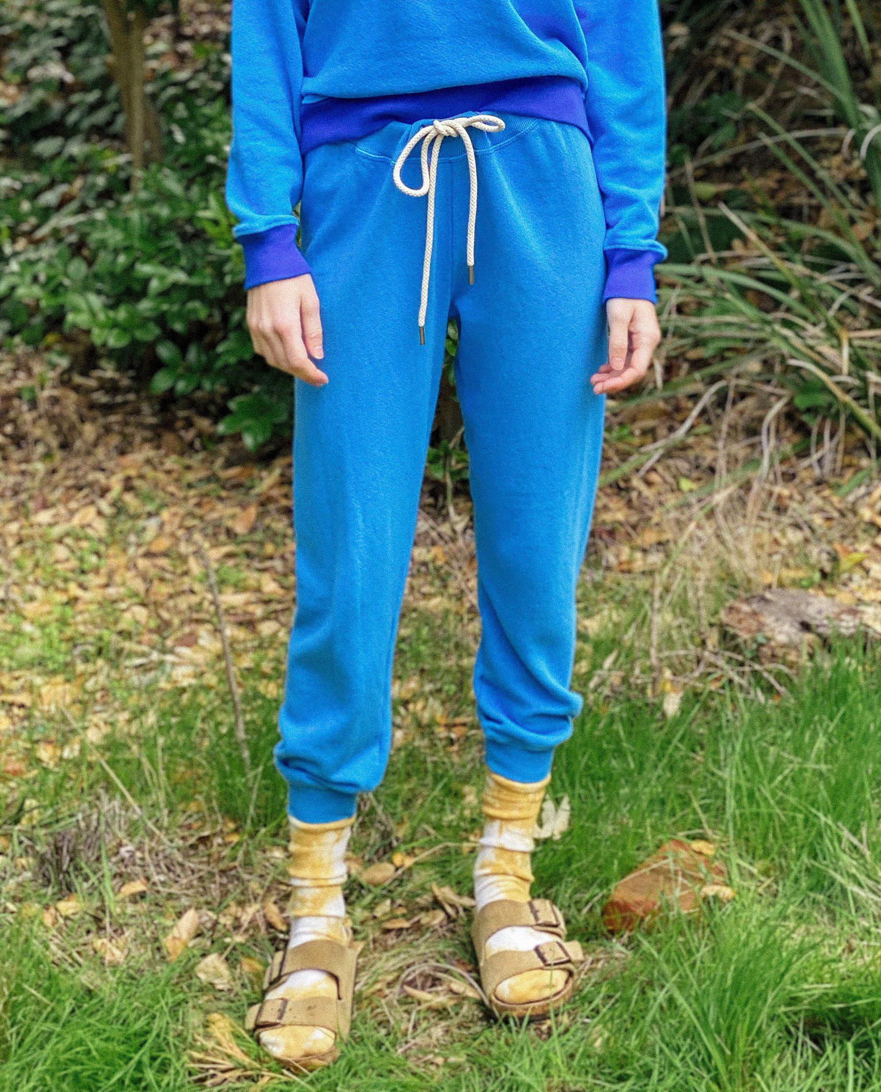 The Cropped Sweatpant. Novelty -- Rally Blue 1