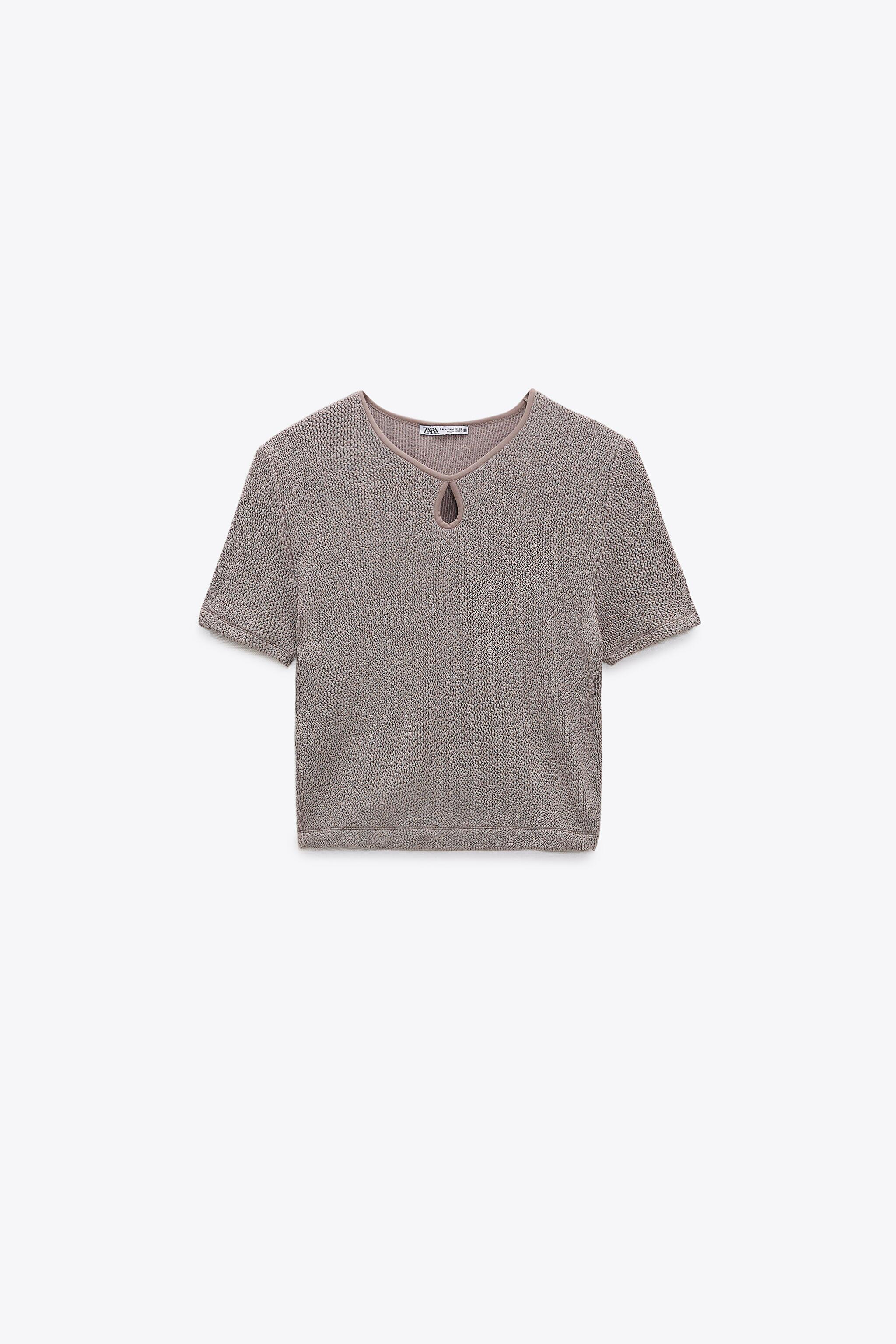 CROPPED TEXTURED WEAVE SHIRT 3
