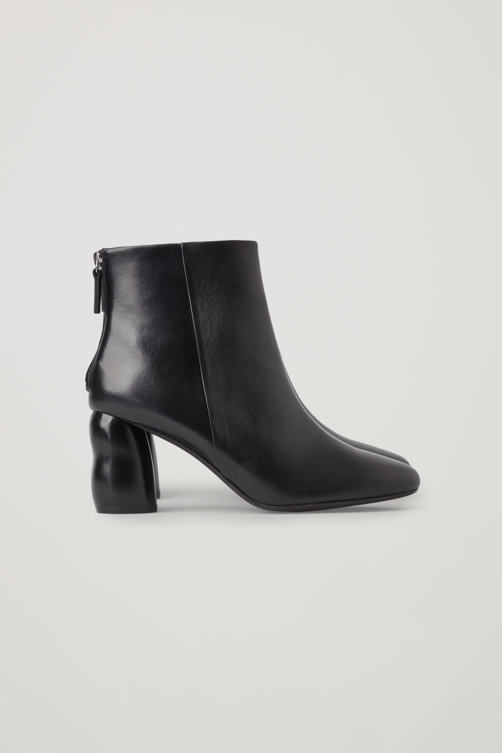 HEELED LEATHER ANKLE BOOTS 2