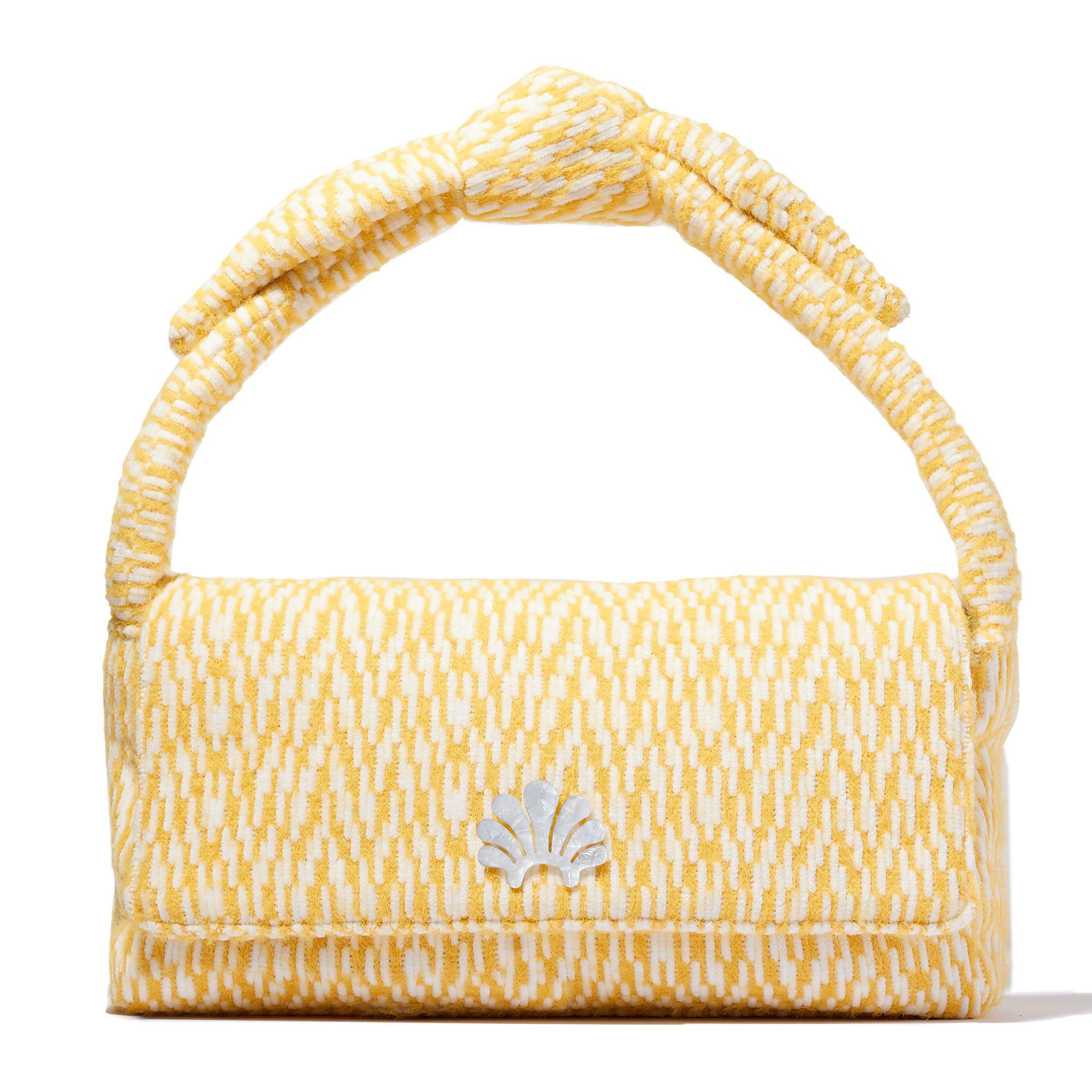 KNITTED YELLOW LYLE SHOULDER BAG