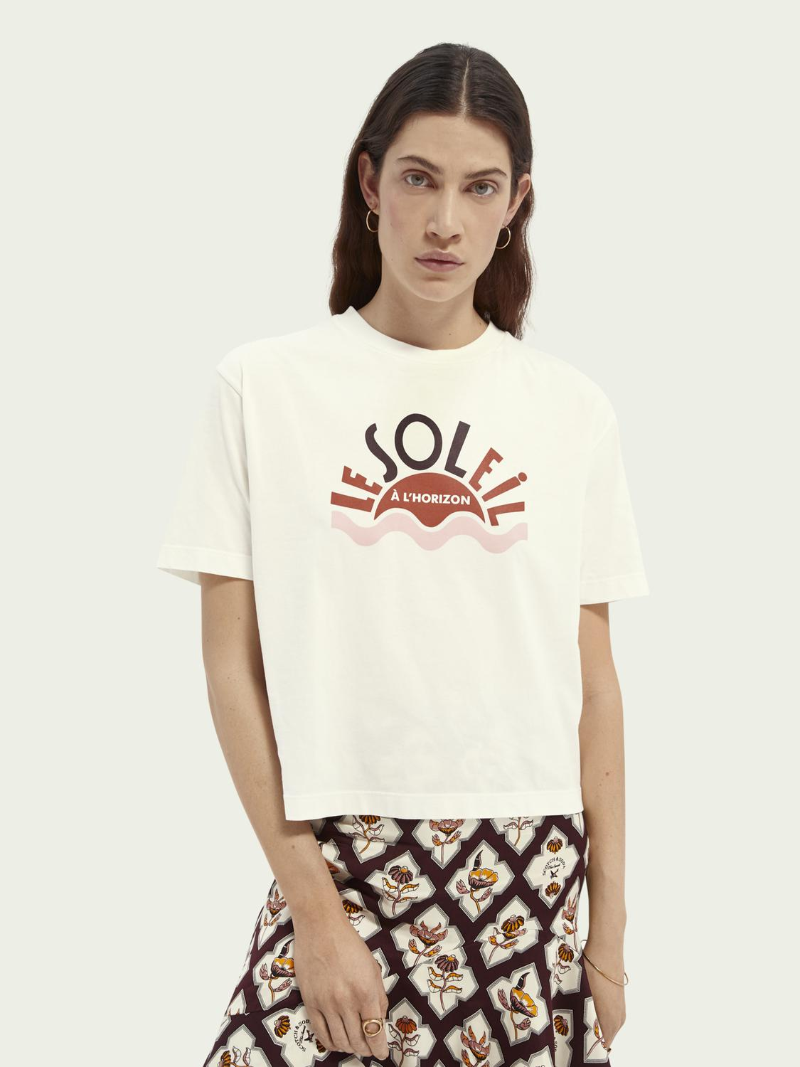 Relaxed-fit graphic organic cotton T-shirt
