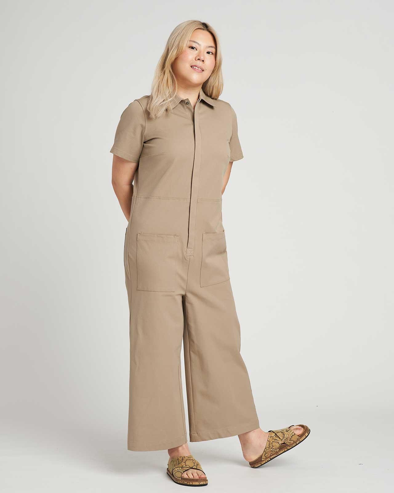 Kate Stretch Cotton Twill Jumpsuit 3