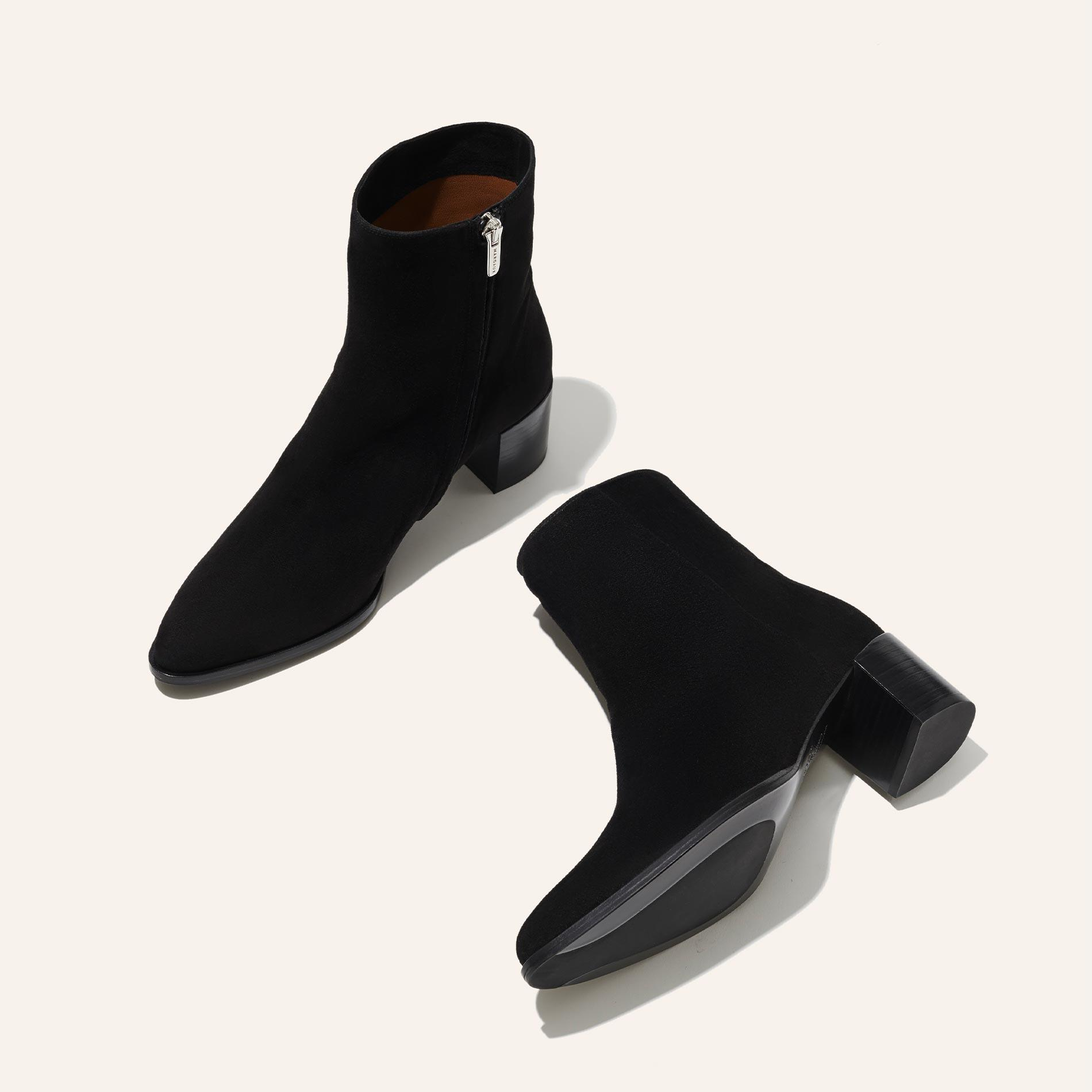 The Downtown Boot - Black Suede 2