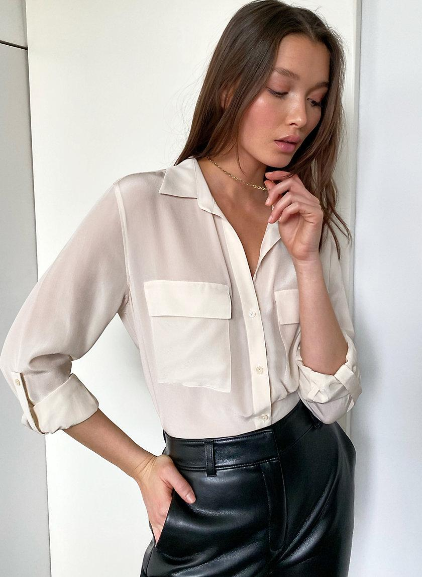 New Utility Silk Button-Up