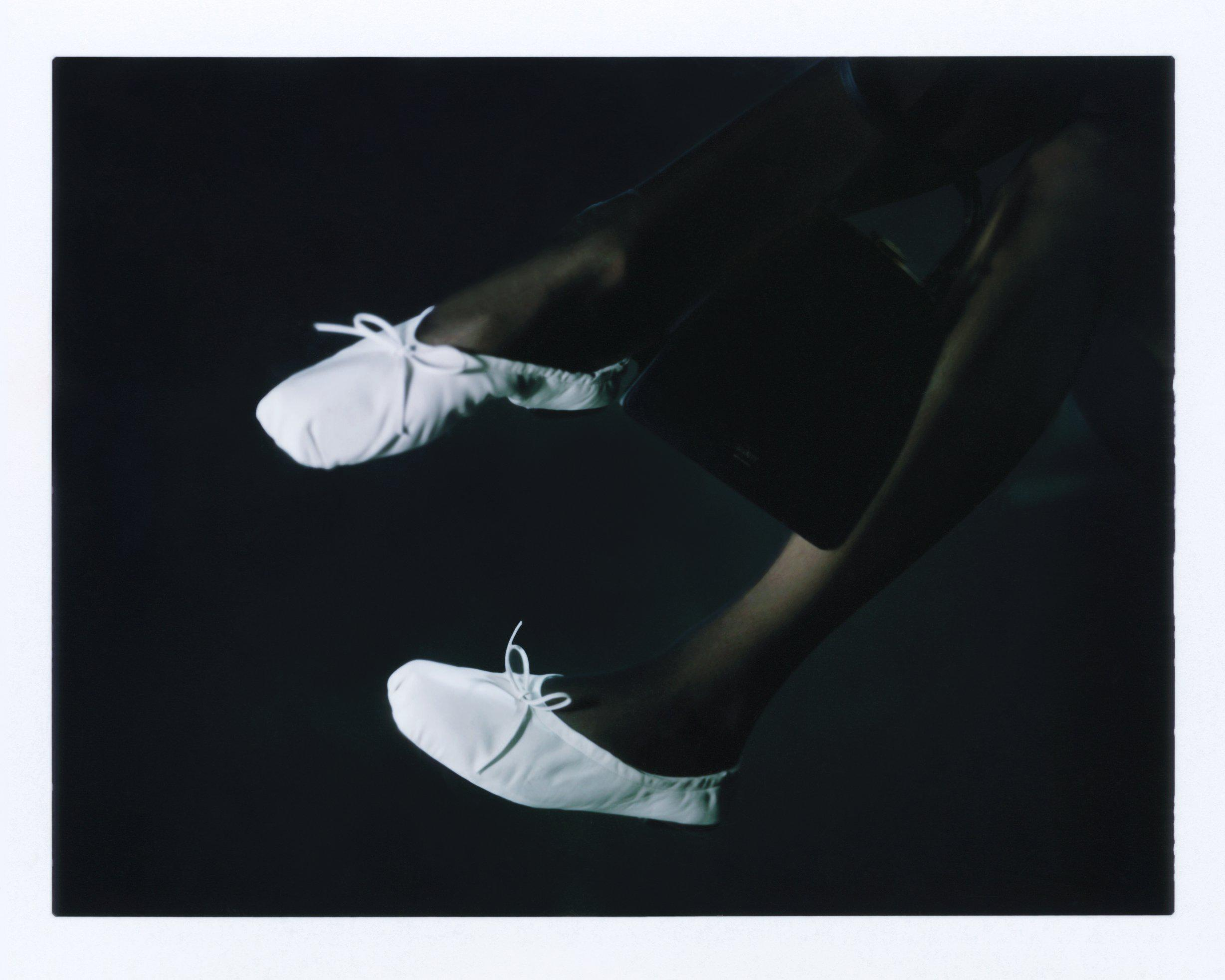 The Ashland Ballet Flat in White Leather 5