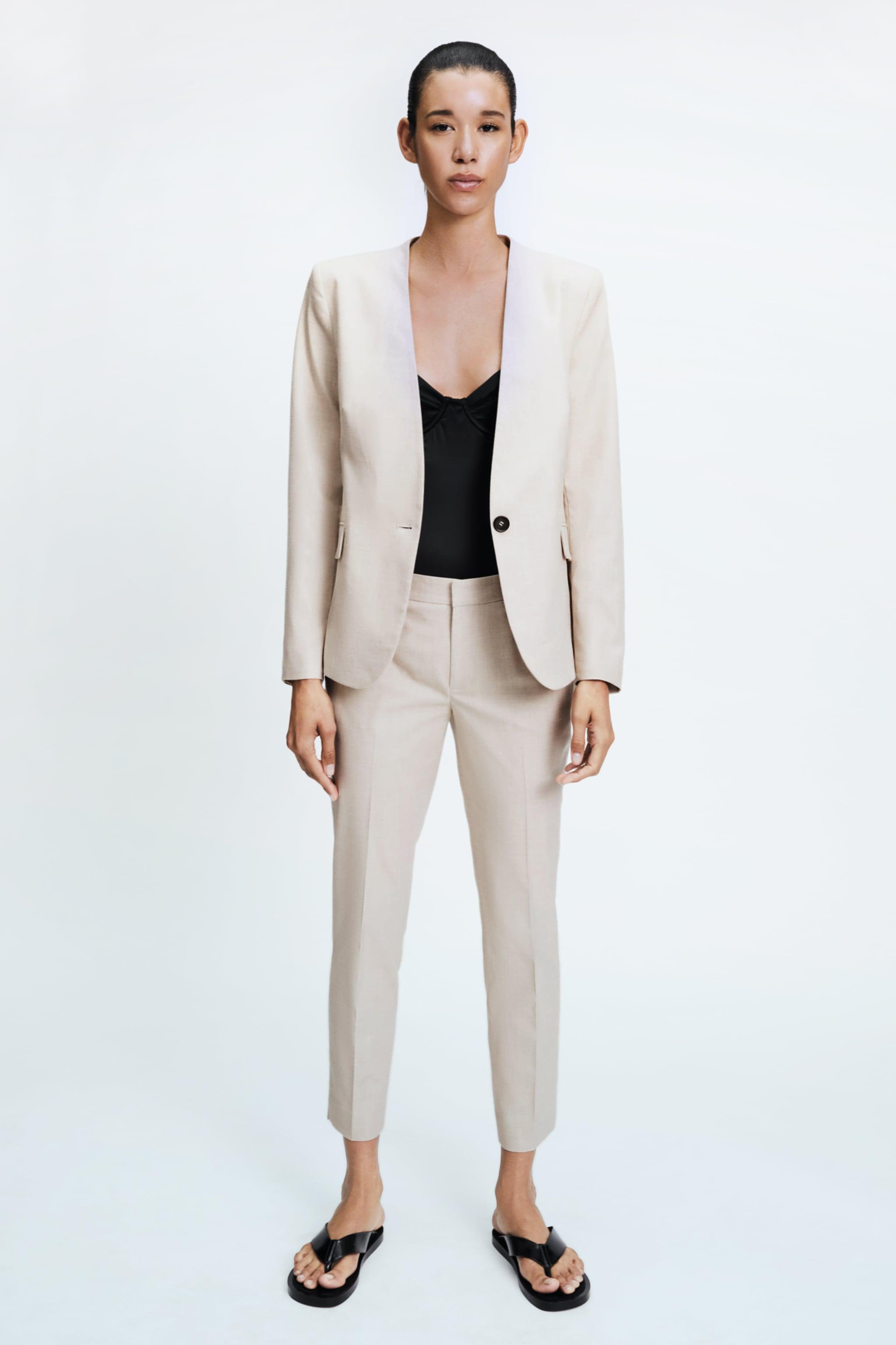 LAPELLESS FITTED BLAZER 0
